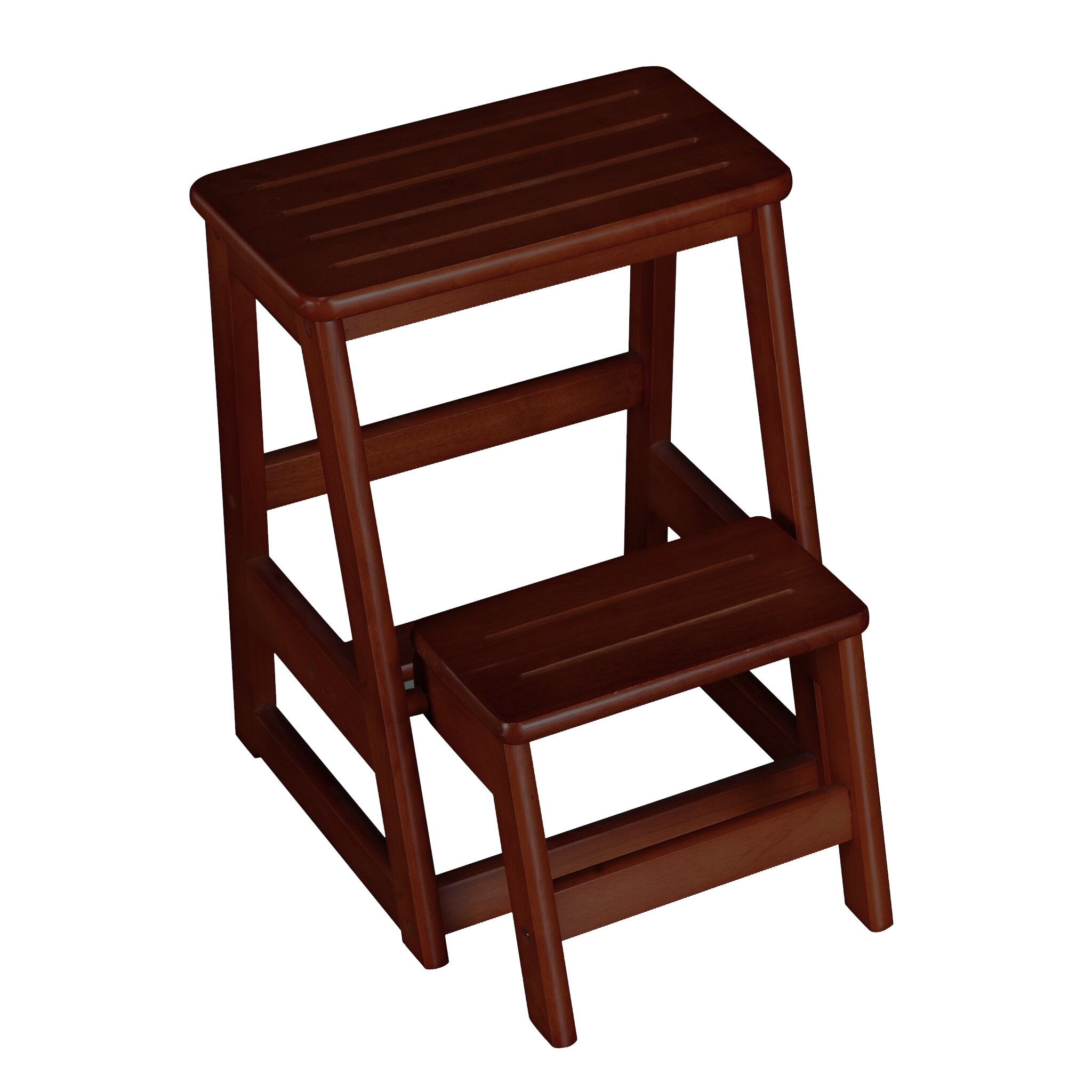 wildon home 2 step wood folding compact step stool with 200 lbs load capacity reviews. Black Bedroom Furniture Sets. Home Design Ideas