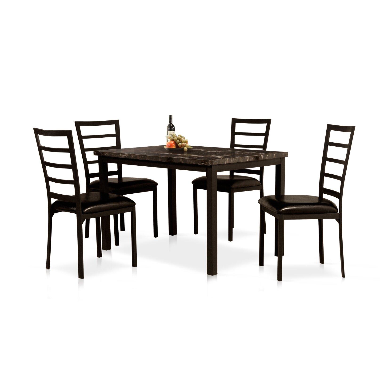 Wildon home 5 piece dining set reviews wayfair for 5 piece dining set