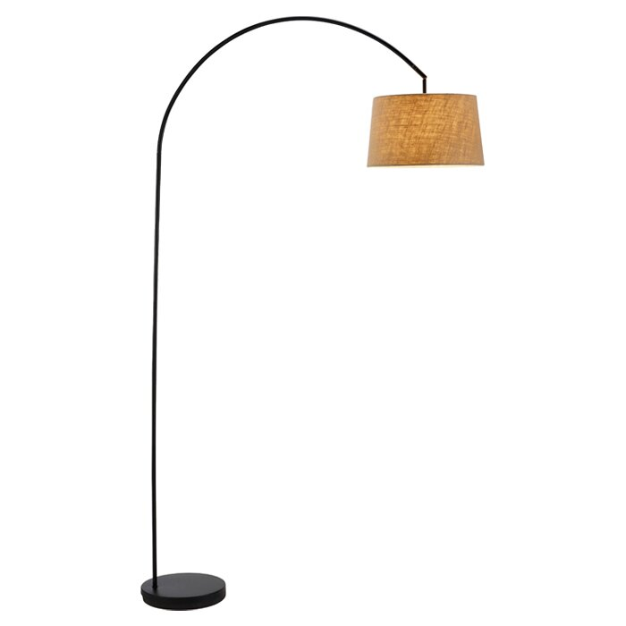 Wildon home jason 83 arched floor lamp reviews wayfair for Arch floor lamps for living room