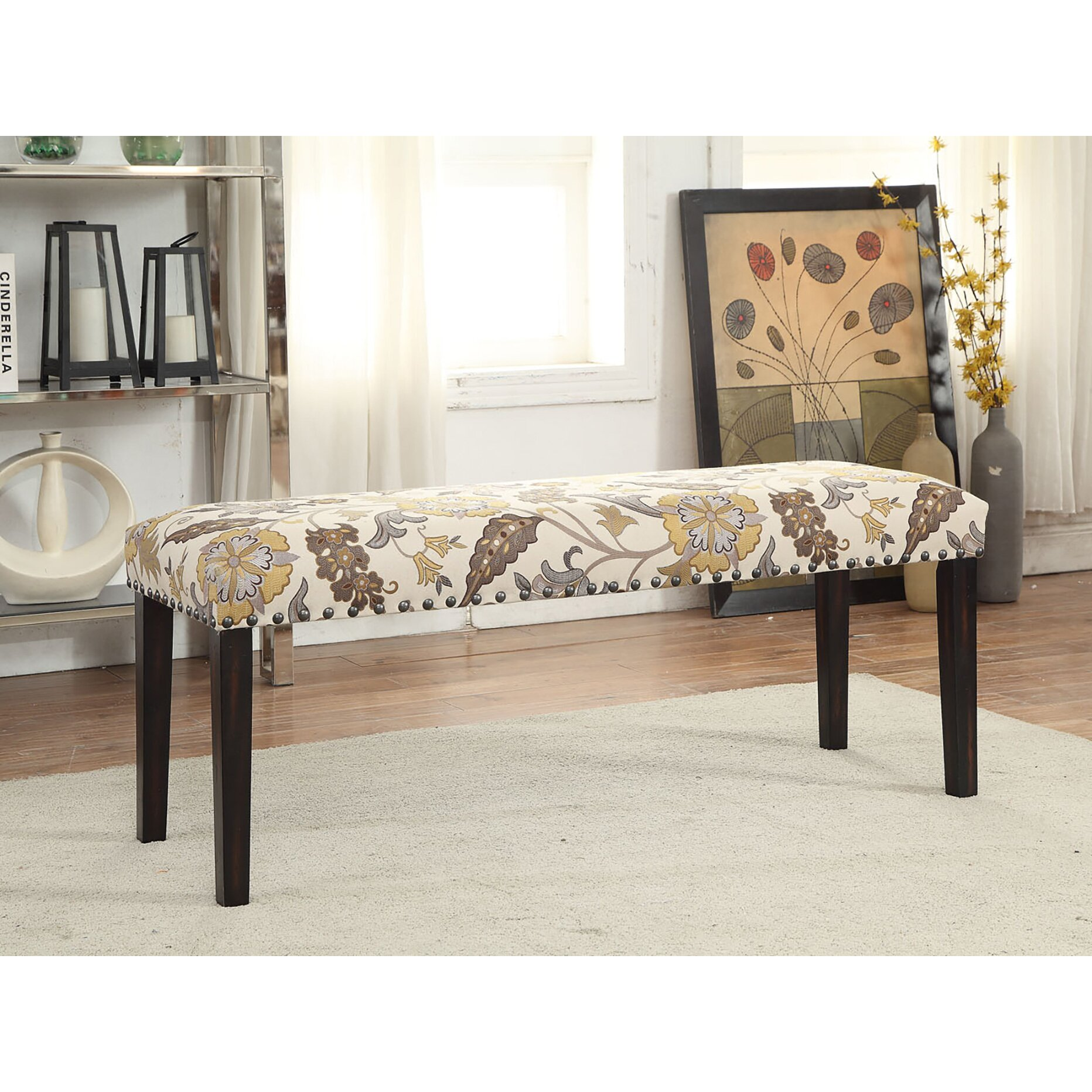 Wildon Home Upholstered Storage Bedroom Bench: Wildon Home ® Upholstered Entryway Bench