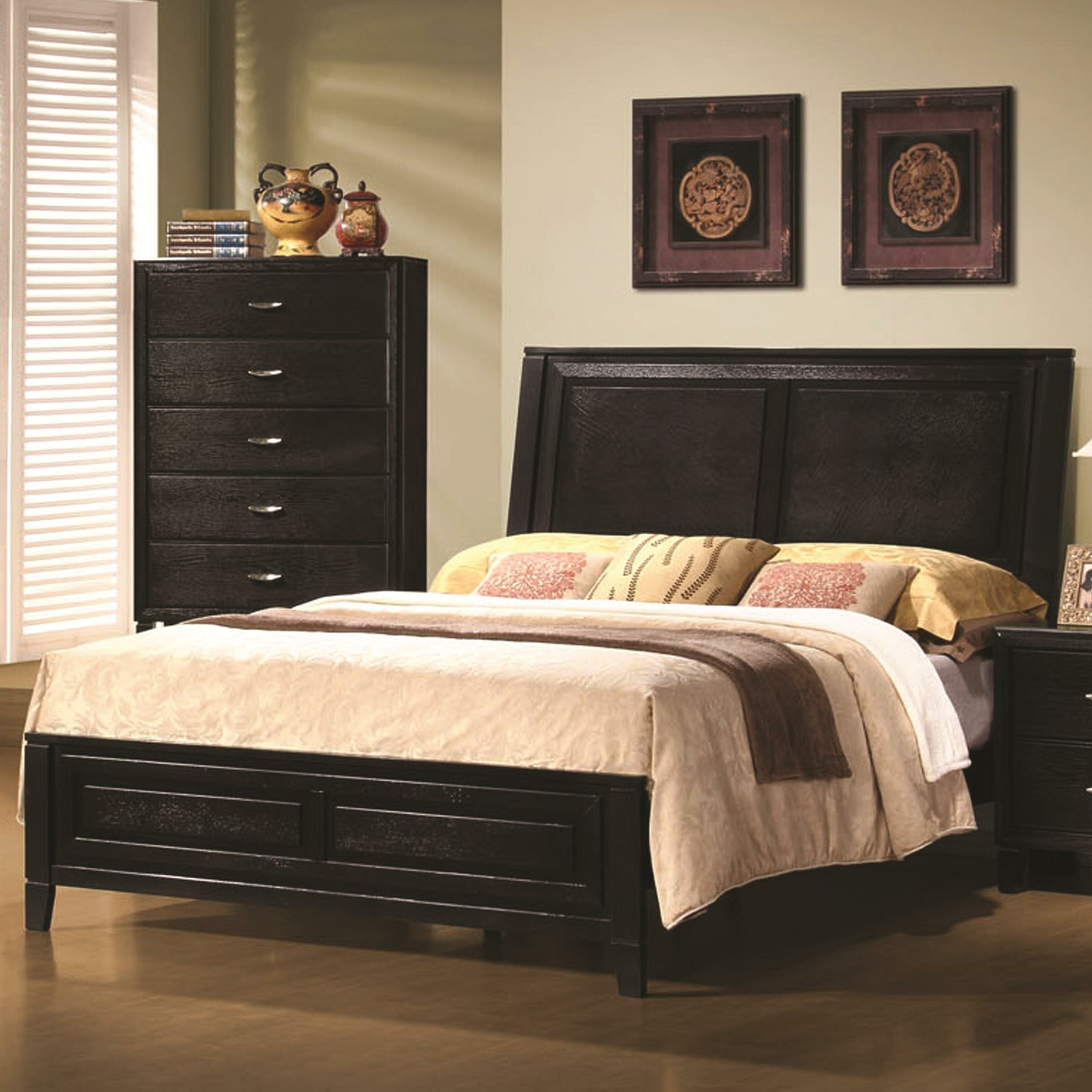 Wildon Home King Panel Bed