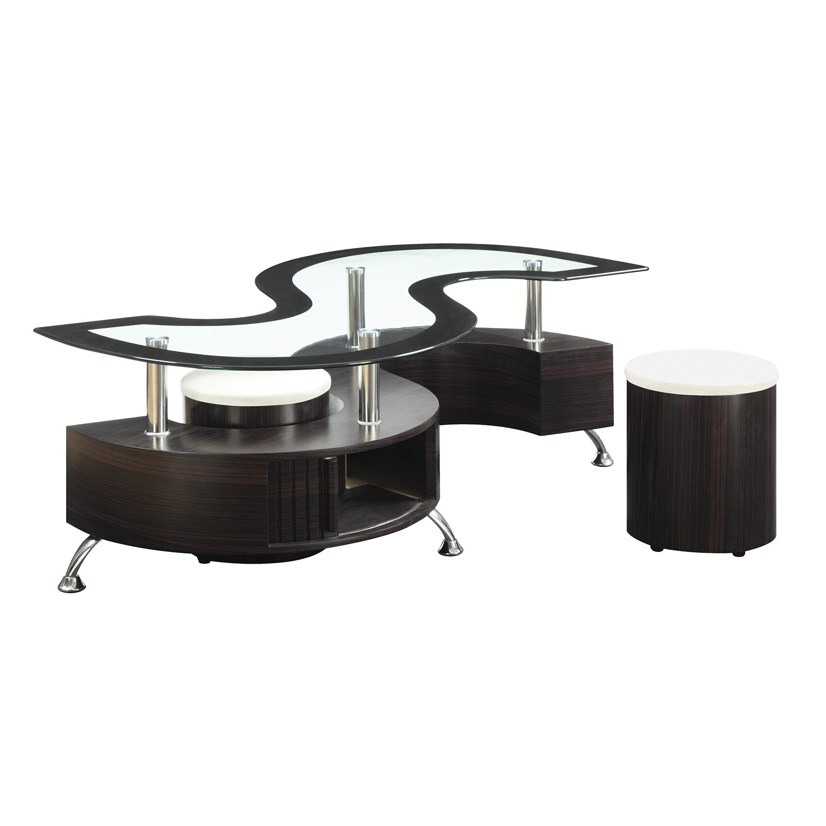 Wildon home 3 piece coffee table set reviews for Coffee tables 3 piece