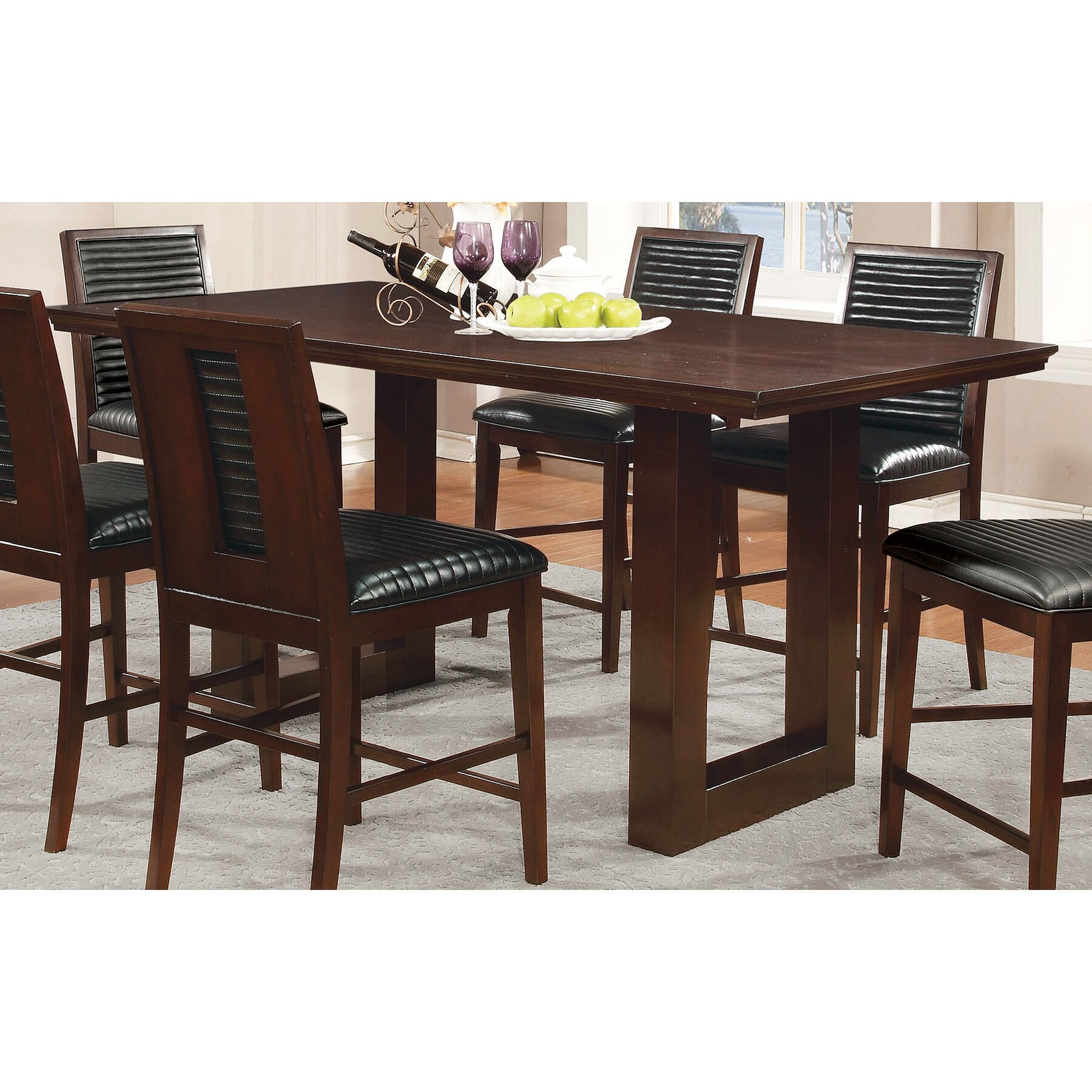 Wildon home chester group counter height dining table for Wayfair dining table