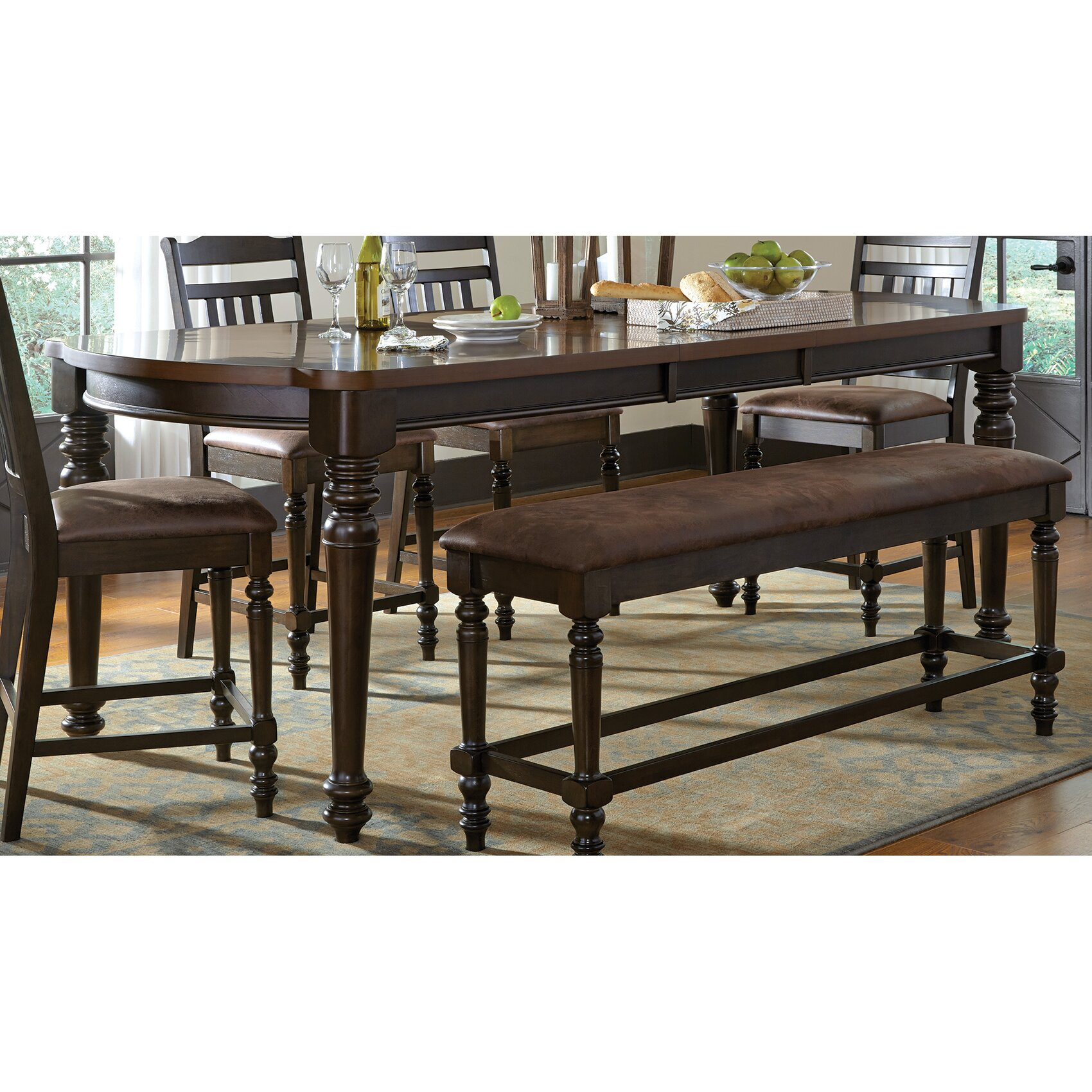 Wildon home counter height dining table wayfair for Wildon home dining