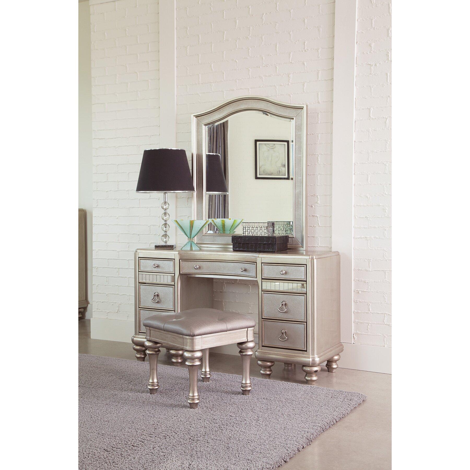 Vanity Lights With Bling : Wildon Home Bling Game Vanity Desk Set Wayfair