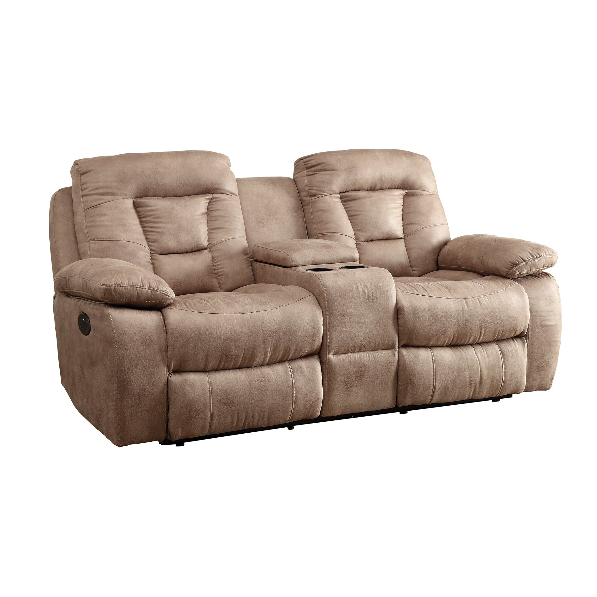 Wildon Home Motion Reclining Loveseat
