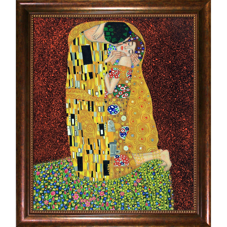 Wildon Home ® The Kiss (Fullview) by Gustav Klimt Framed ...