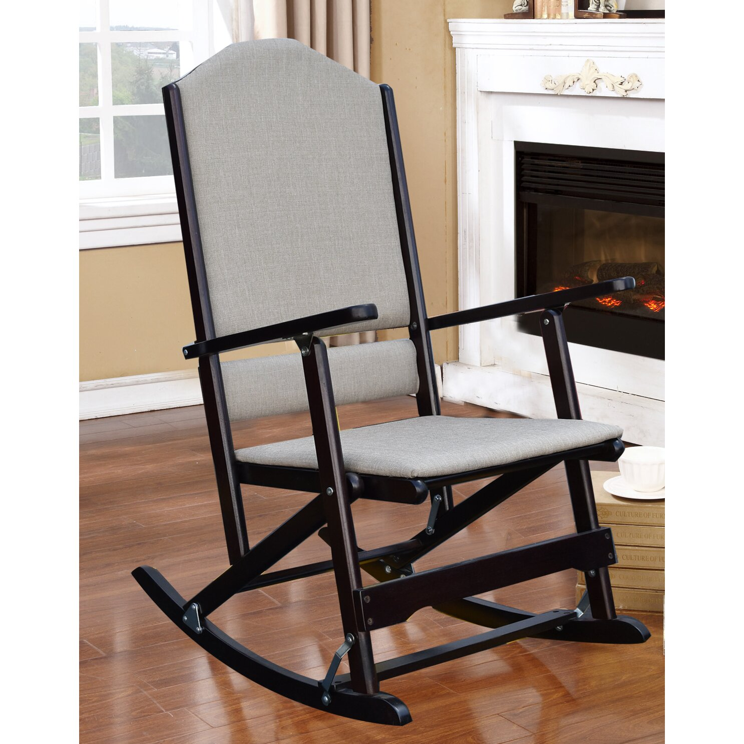 ... Cedar Creek Solid Wood Folding Rocking Chair & Reviews  Wayfair.ca