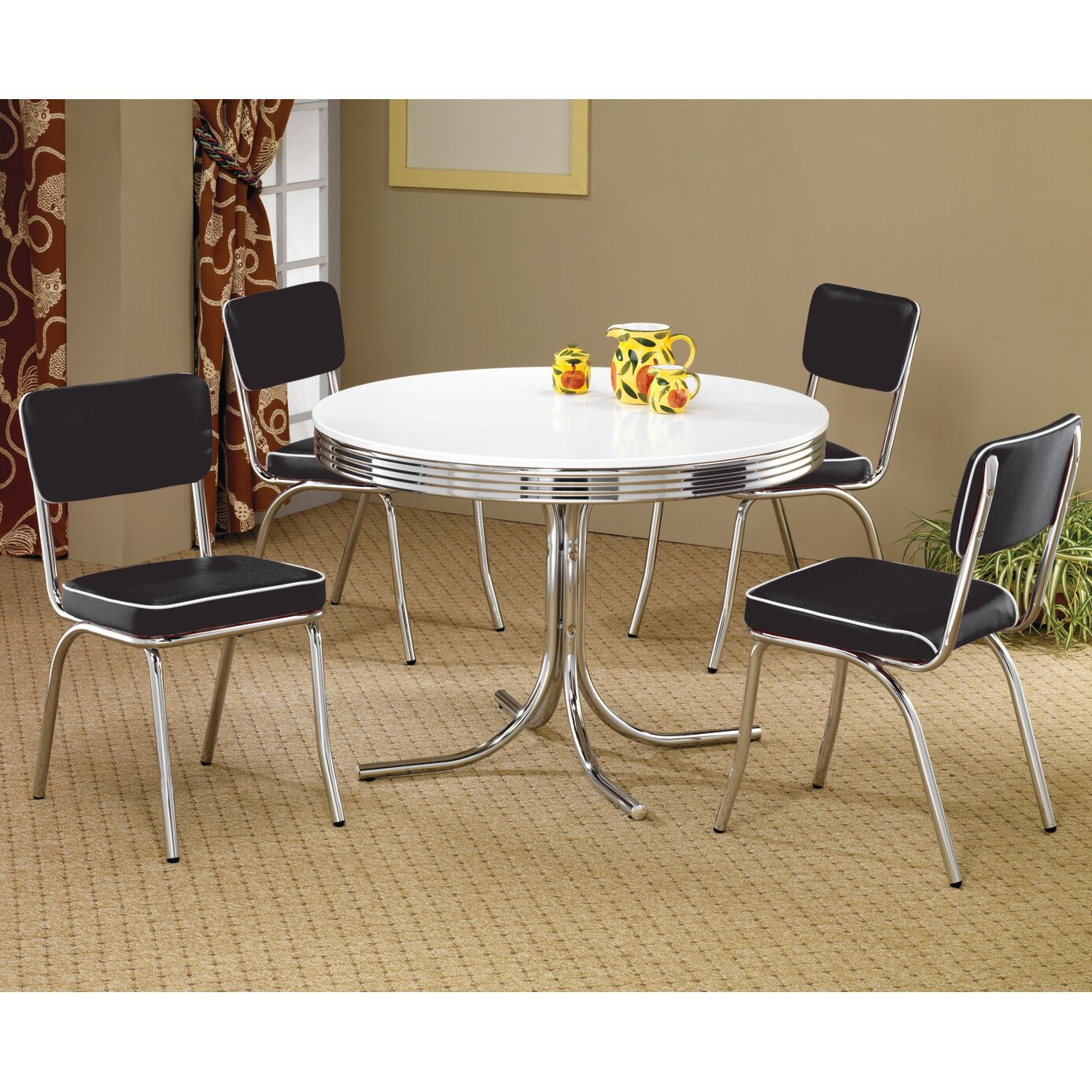 Wildon home peyton retro dining table reviews wayfair for Wildon home dining