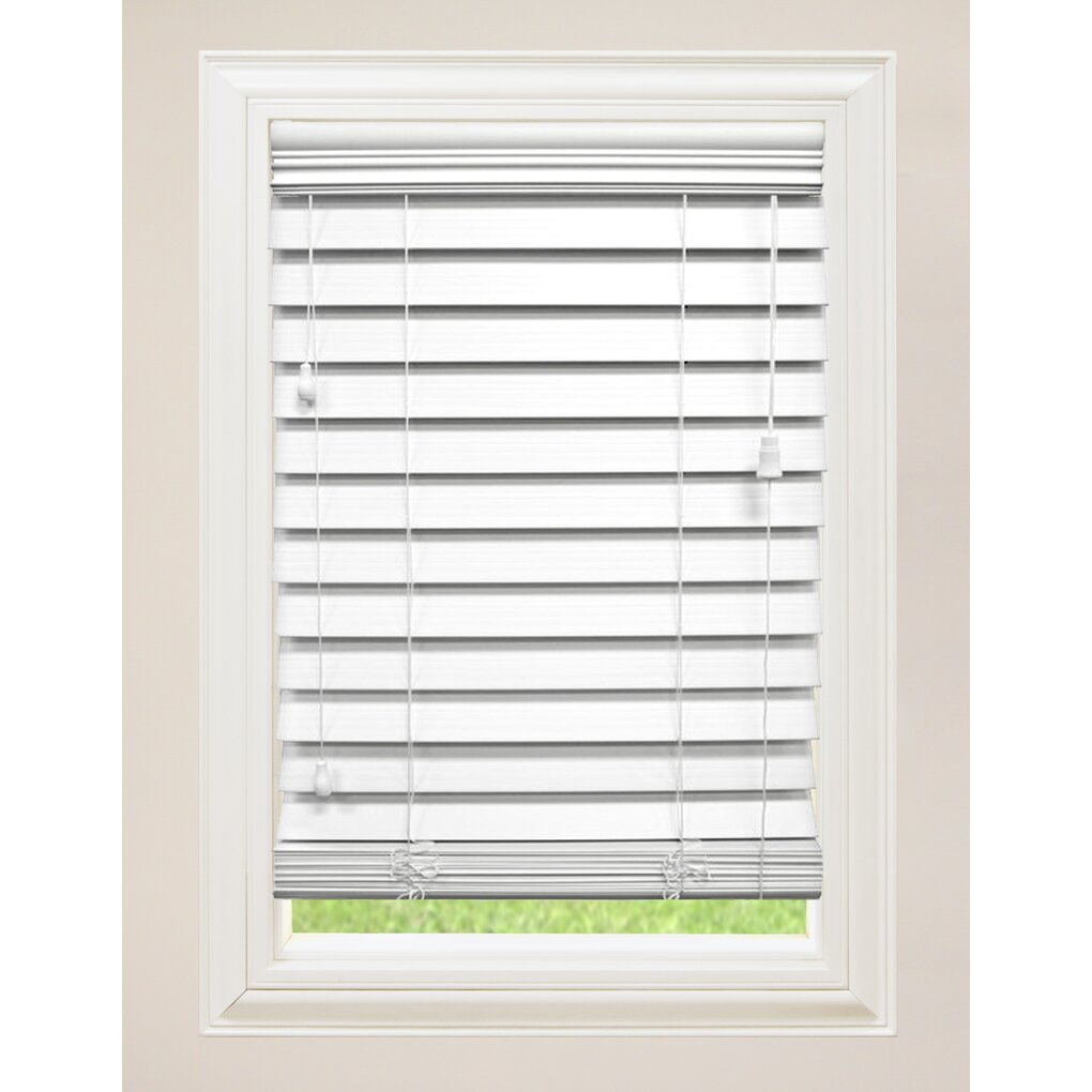 Wildon Home Faux Premium Wood Venetian Blind Reviews Wayfair