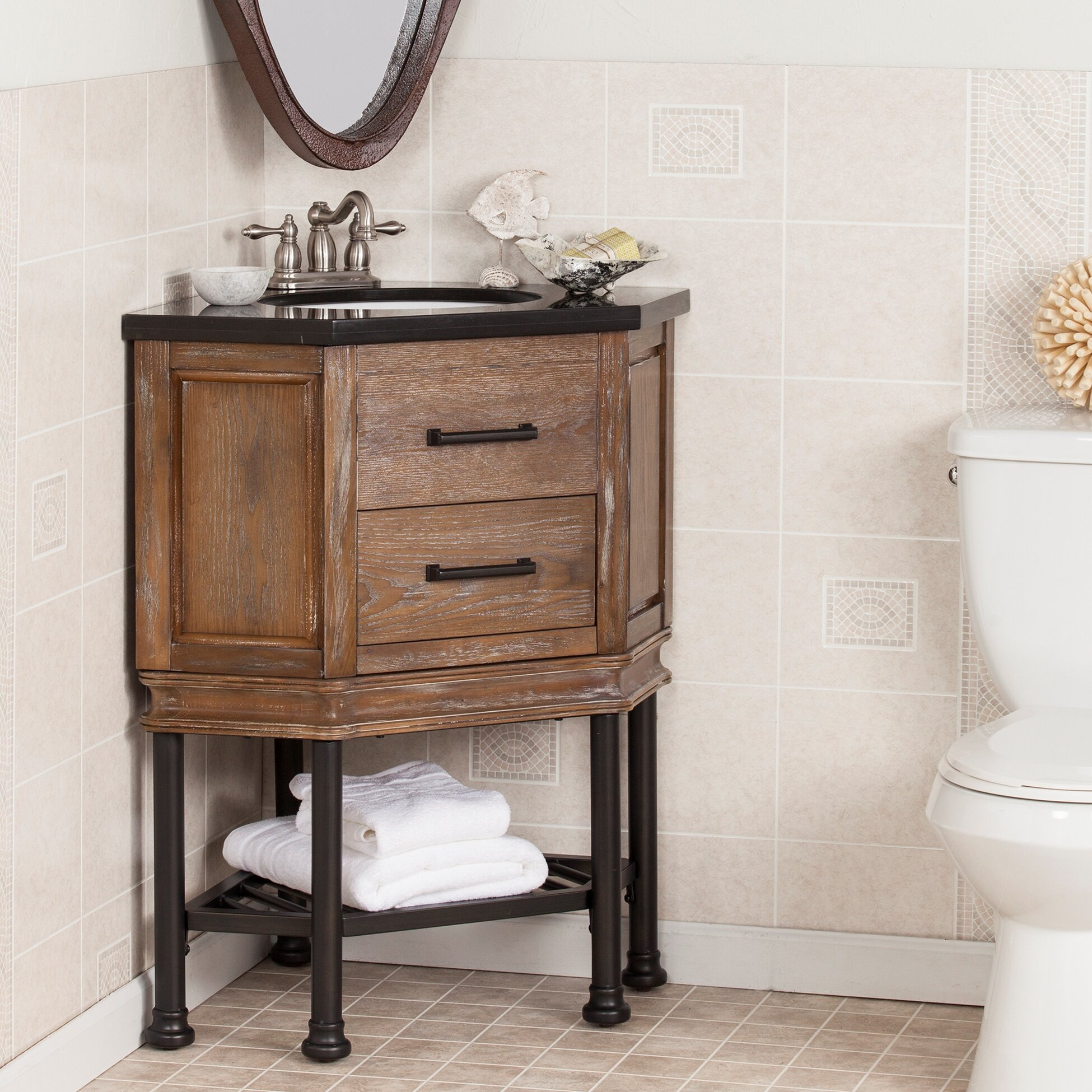 Wildon Home Beale 32 Single Corner Bath Vanity Sink