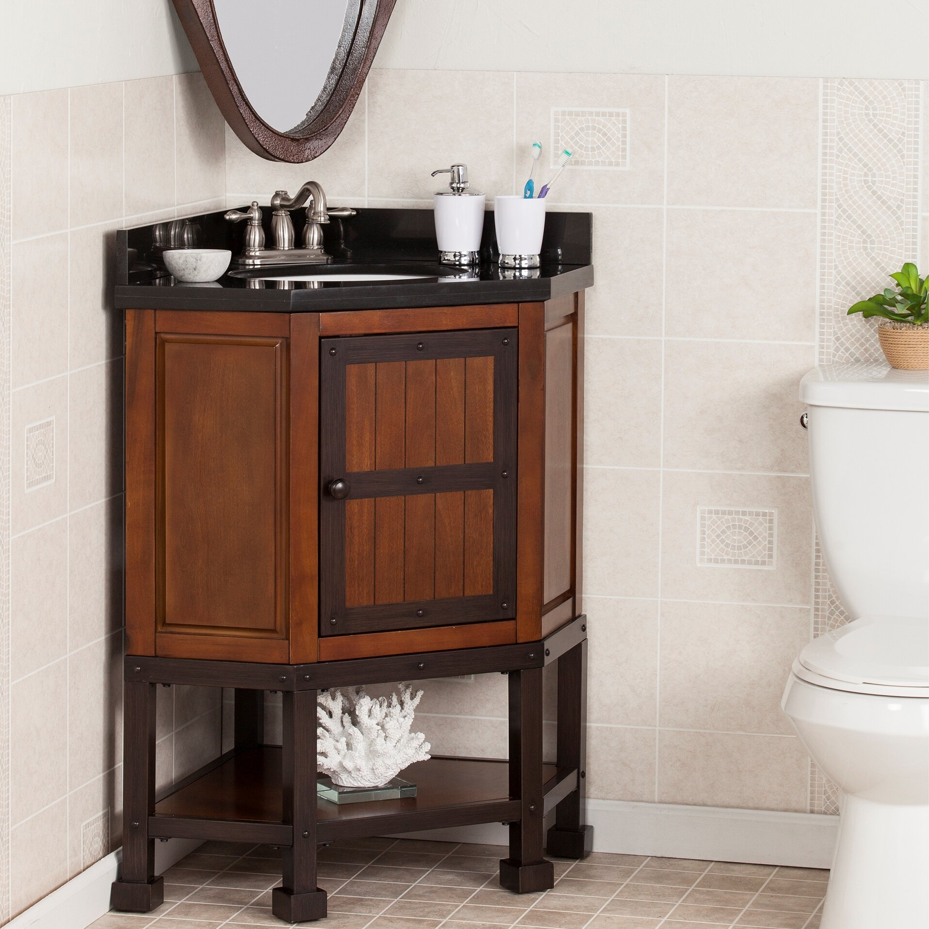 Wildon home errigal 34 single corner bath vanity set - Wayfair furniture bathroom vanities ...