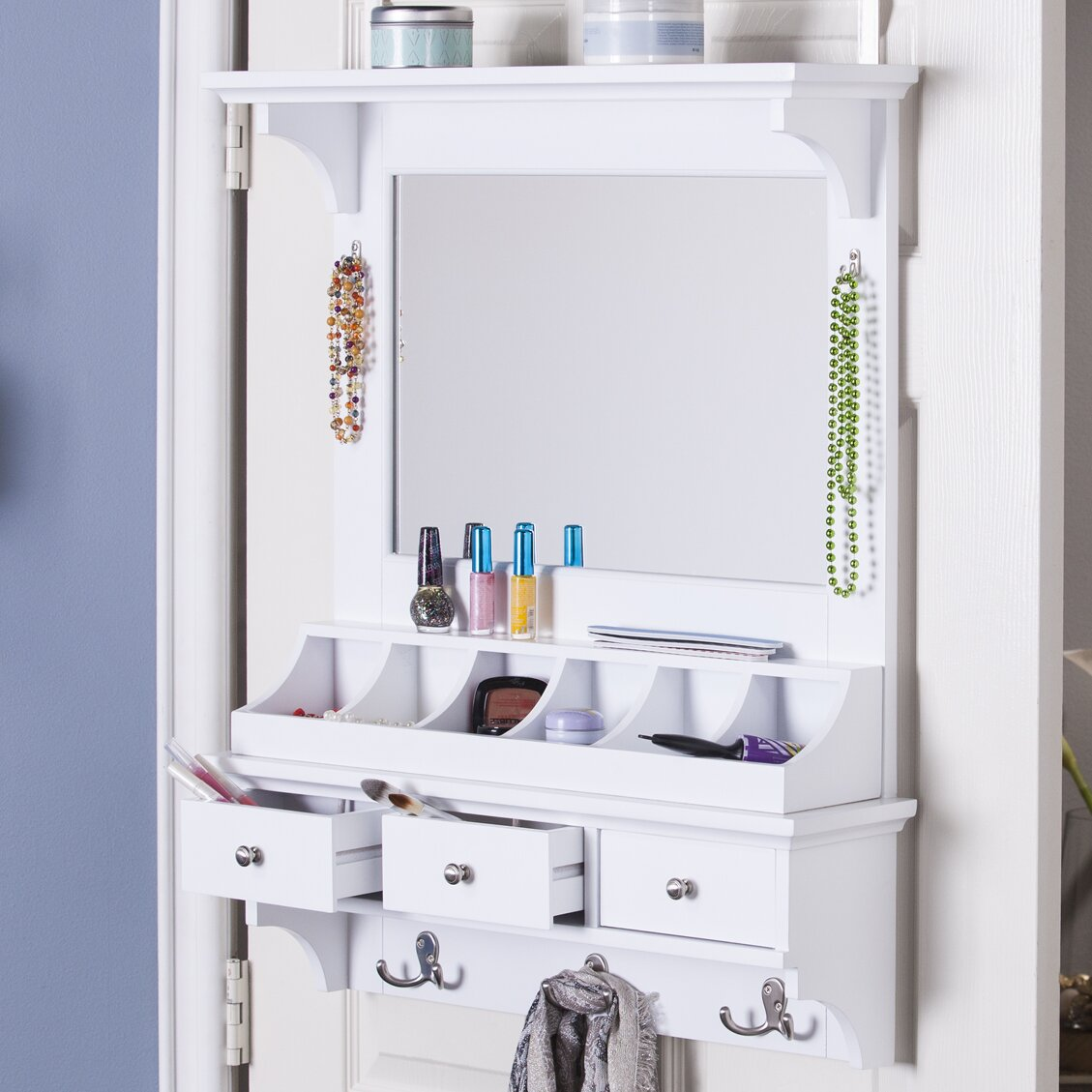 Wildon Home Della Over The Door Jewelry Armoire With