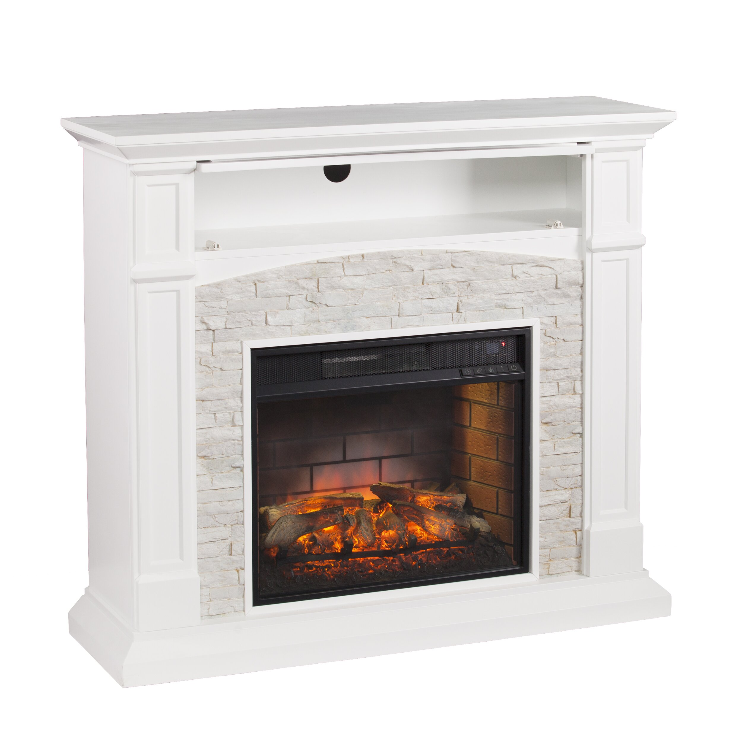 wildon home sheldon infrared media electric fireplace