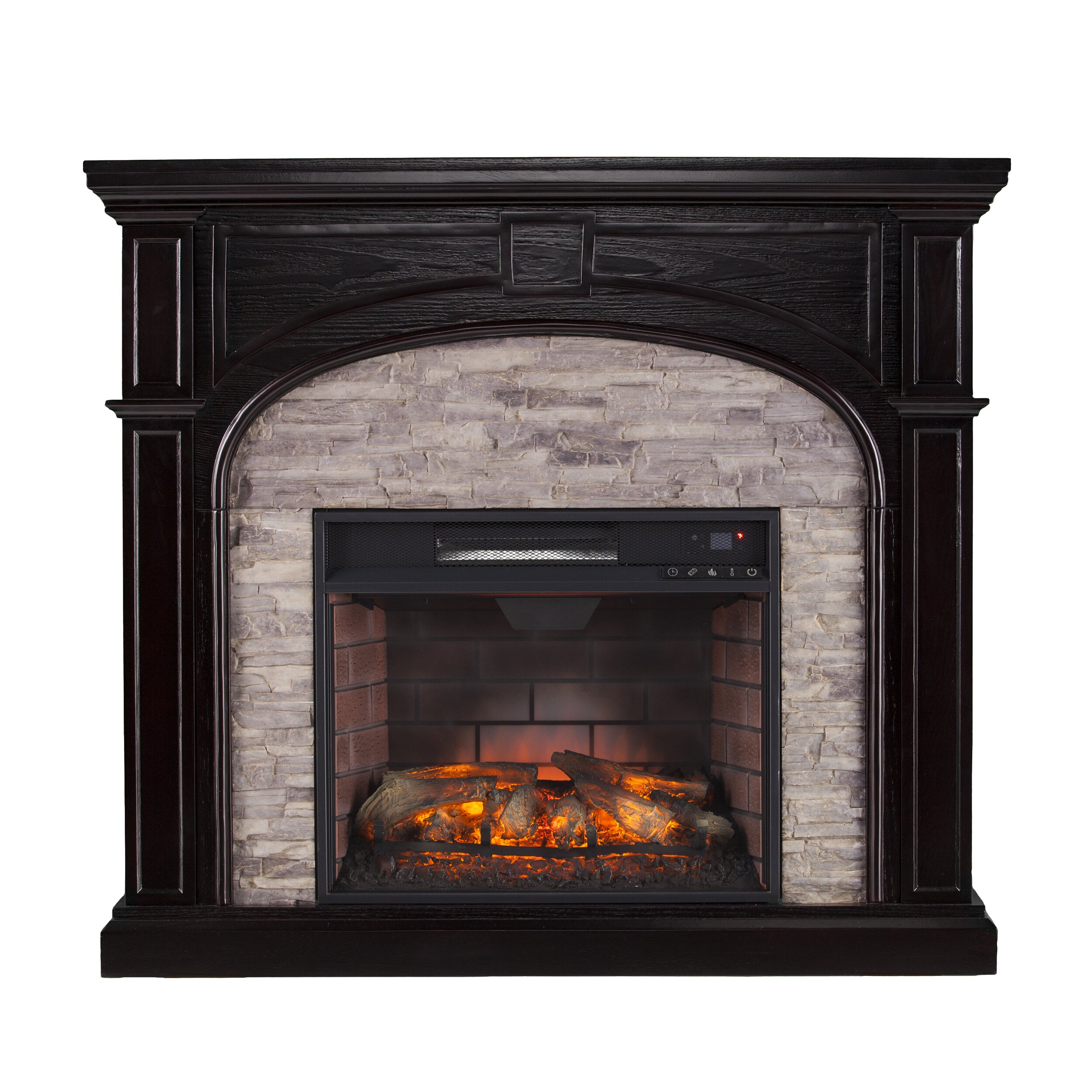 wildon home 174 nash stacked infrared electric fireplace