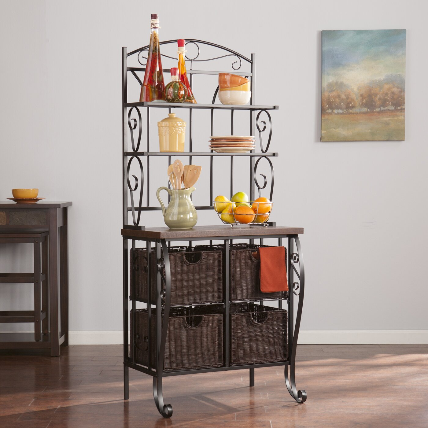 wildon home jolie storage baker 39 s rack reviews wayfair. Black Bedroom Furniture Sets. Home Design Ideas
