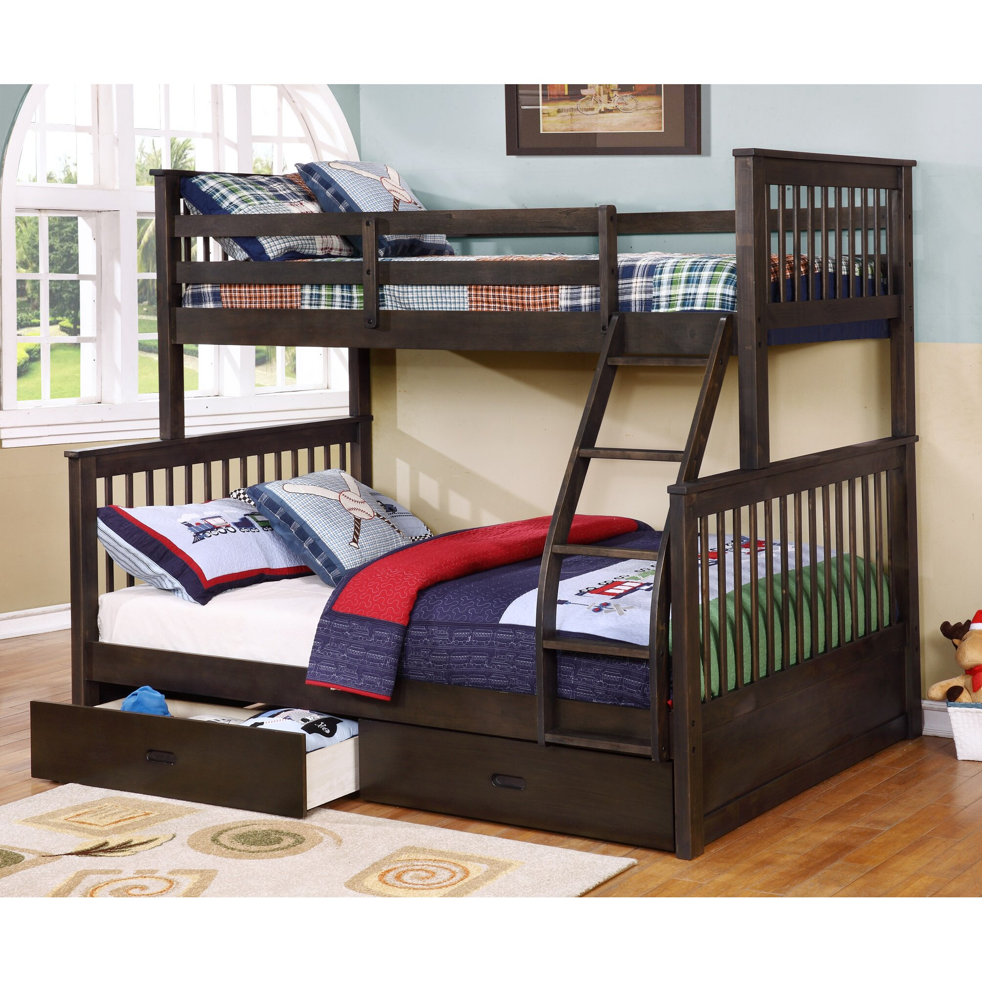 Wildon Home Paloma Mission Twin over Full Bunk Bed with