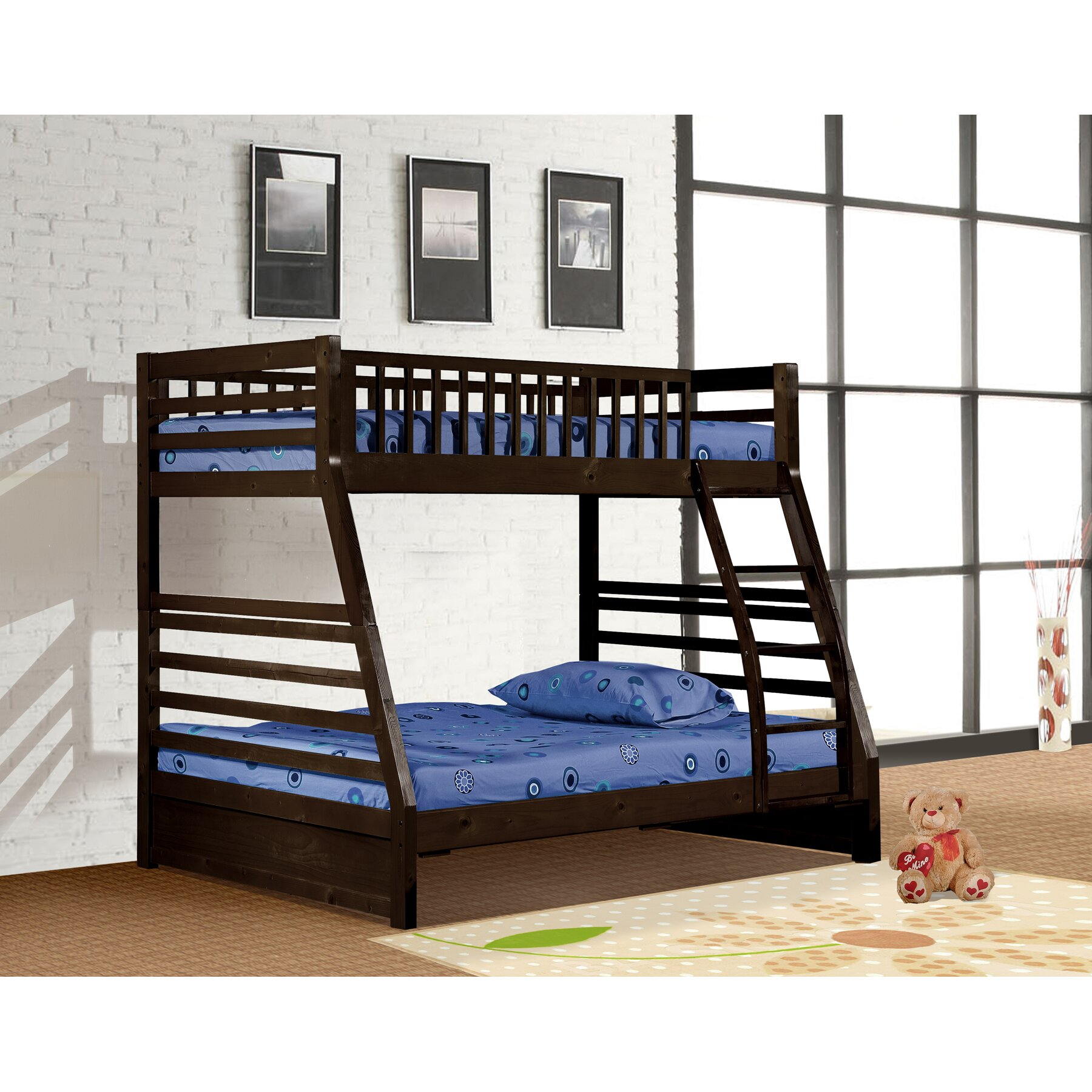 wildon home dakota twin over full bunk bed reviews wayfair. Black Bedroom Furniture Sets. Home Design Ideas