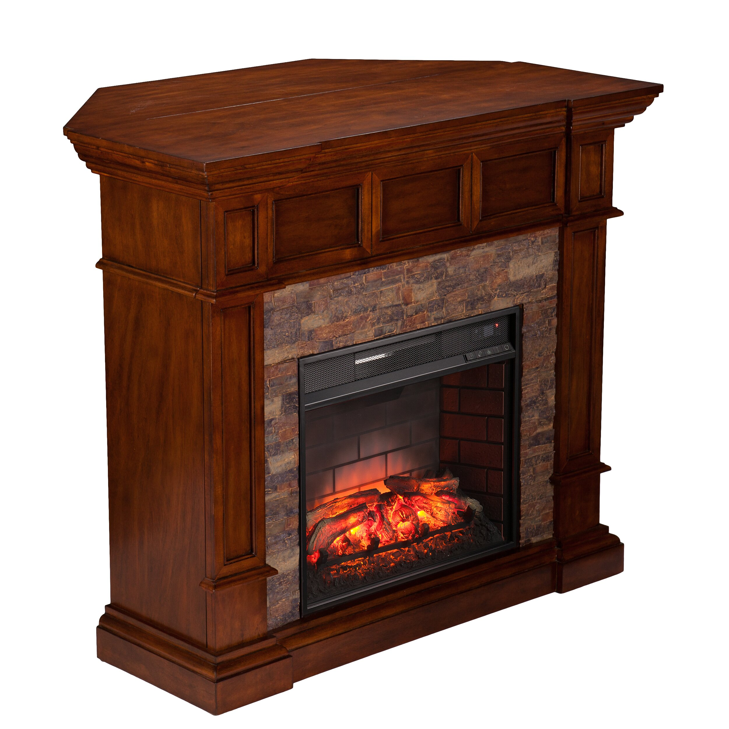 Wildon Home Frazier Corner Convertible Infrared Electric Fireplace Reviews Wayfair