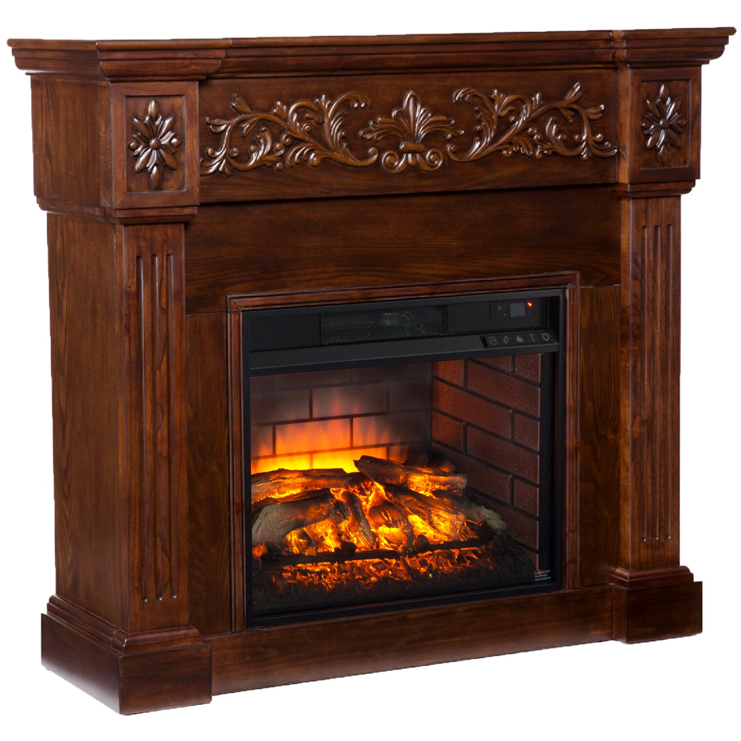 Wildon Home Claridge Infrared Electric Carved Fireplace Wayfair