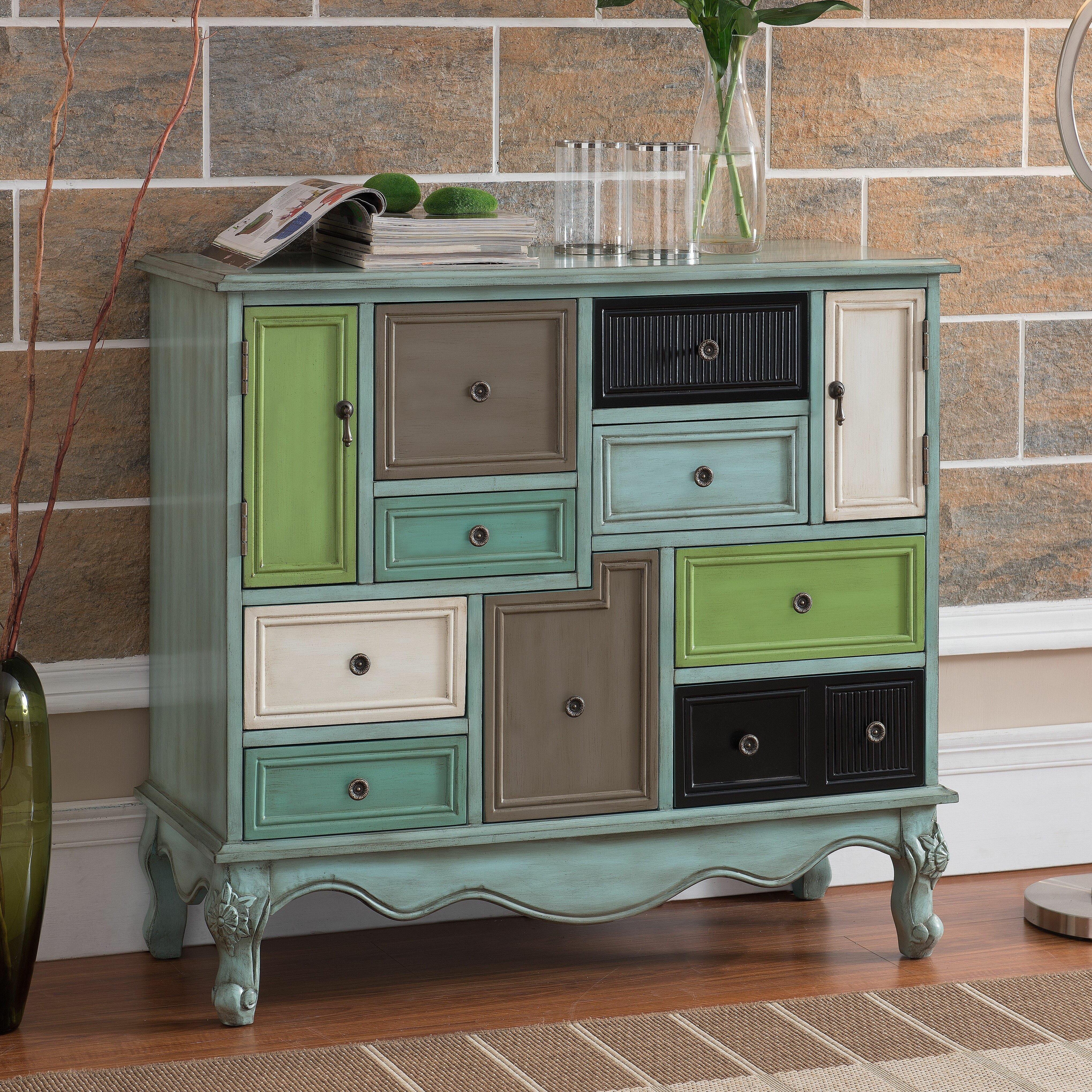 Wildon Home Freemanstown 9 Drawer 2 Door Cabinet