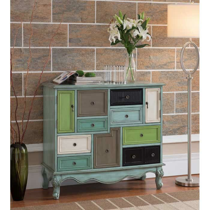 Wildon Home Freemanstown 9 Drawer 2 Door Cabinet