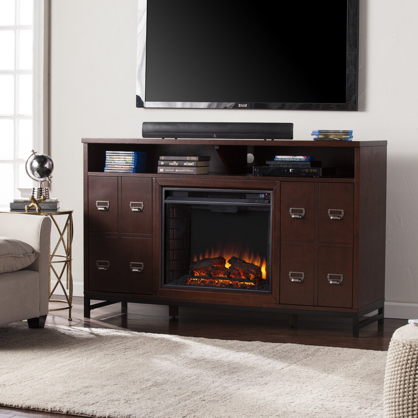 wildon home rachtman media stand electric fireplace
