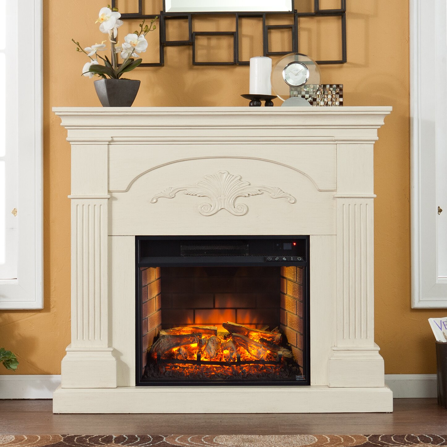 Wildon Home Stine Infrared Electric Fireplace Reviews Wayfair
