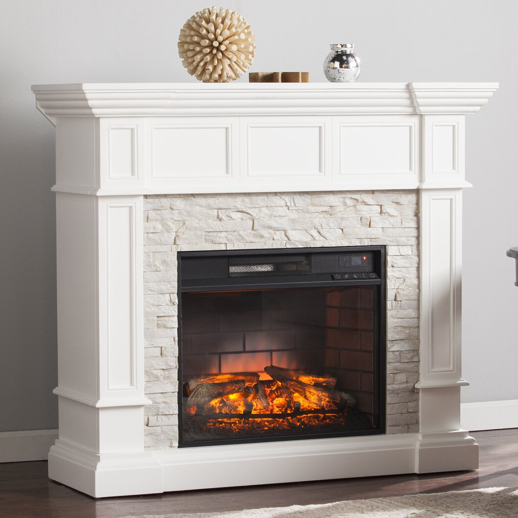 Wildon Home Frazier Corner Convertible Infrared Electric Fireplace Reviews Wayfair