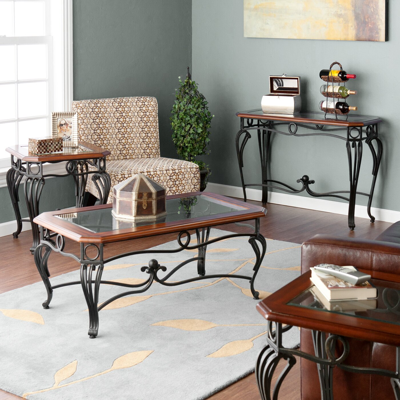 Wildon Home 174 Troy 4 Piece Coffee Table Set Amp Reviews