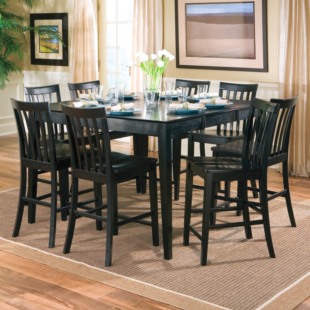 Wildon home lakeside counter height extendable dining for Counter height extendable dining table