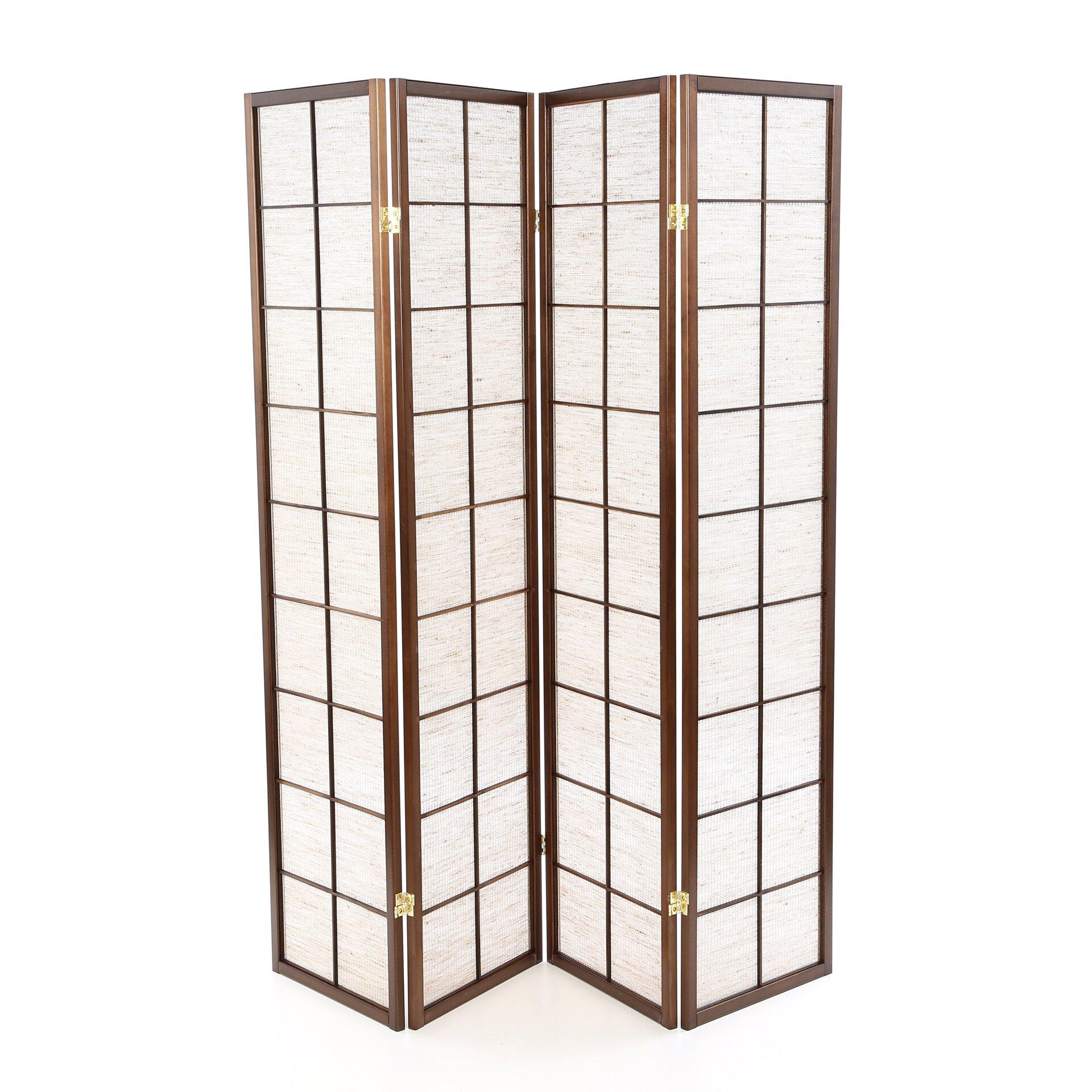 Wildon home 70 x 68 shoji 4 panel room divider reviews wayfair - Shoji room divider ...
