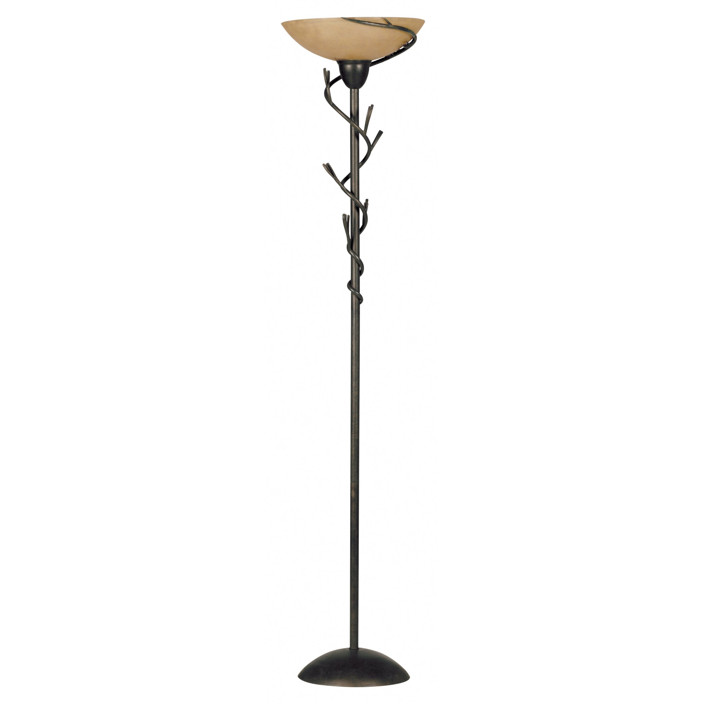 Wildon home r twigs peony 73quot torchiere floor lamp for Floor lamp with twigs