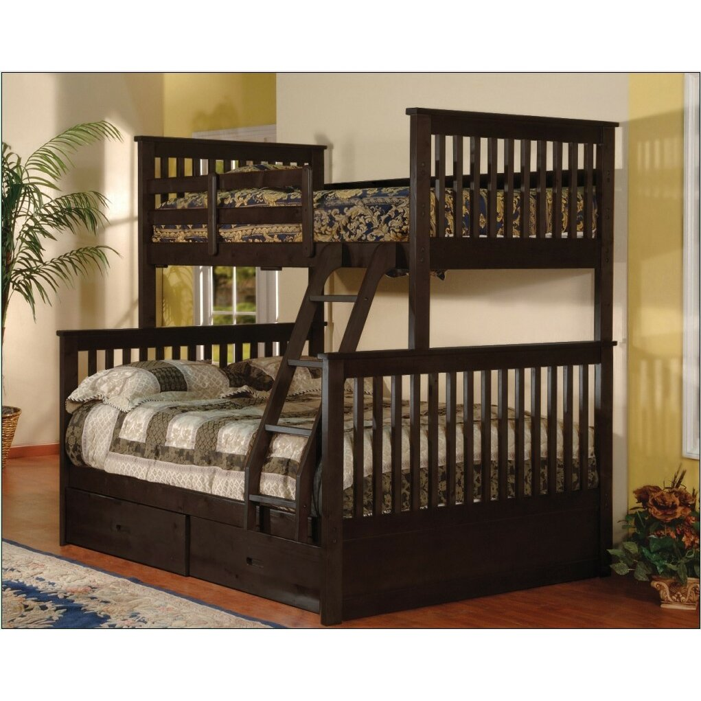 Wildon Home Twin over Full Bunk Bed with Storage
