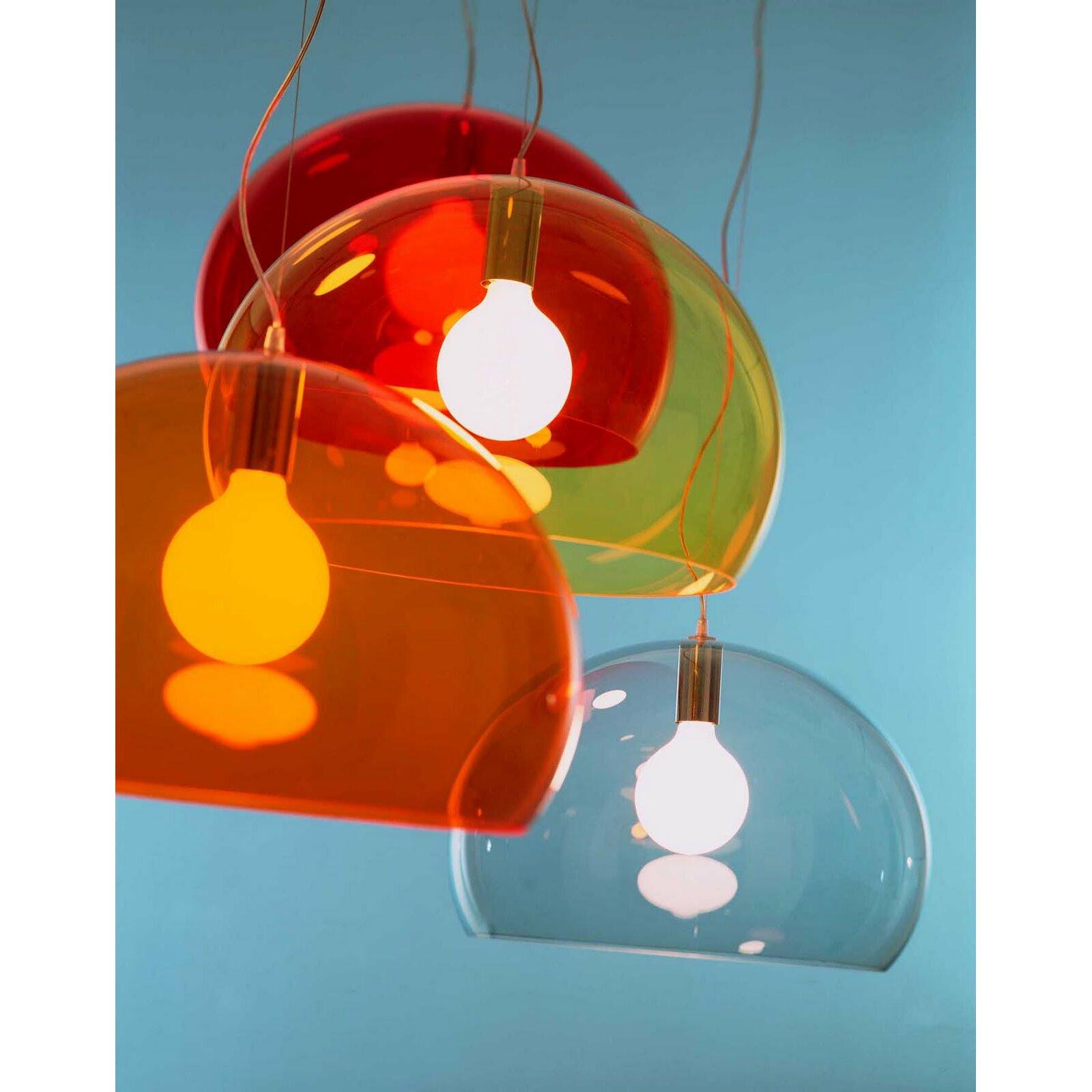 kartell fl y 1 light suspension bowl pendant reviews wayfair. Black Bedroom Furniture Sets. Home Design Ideas