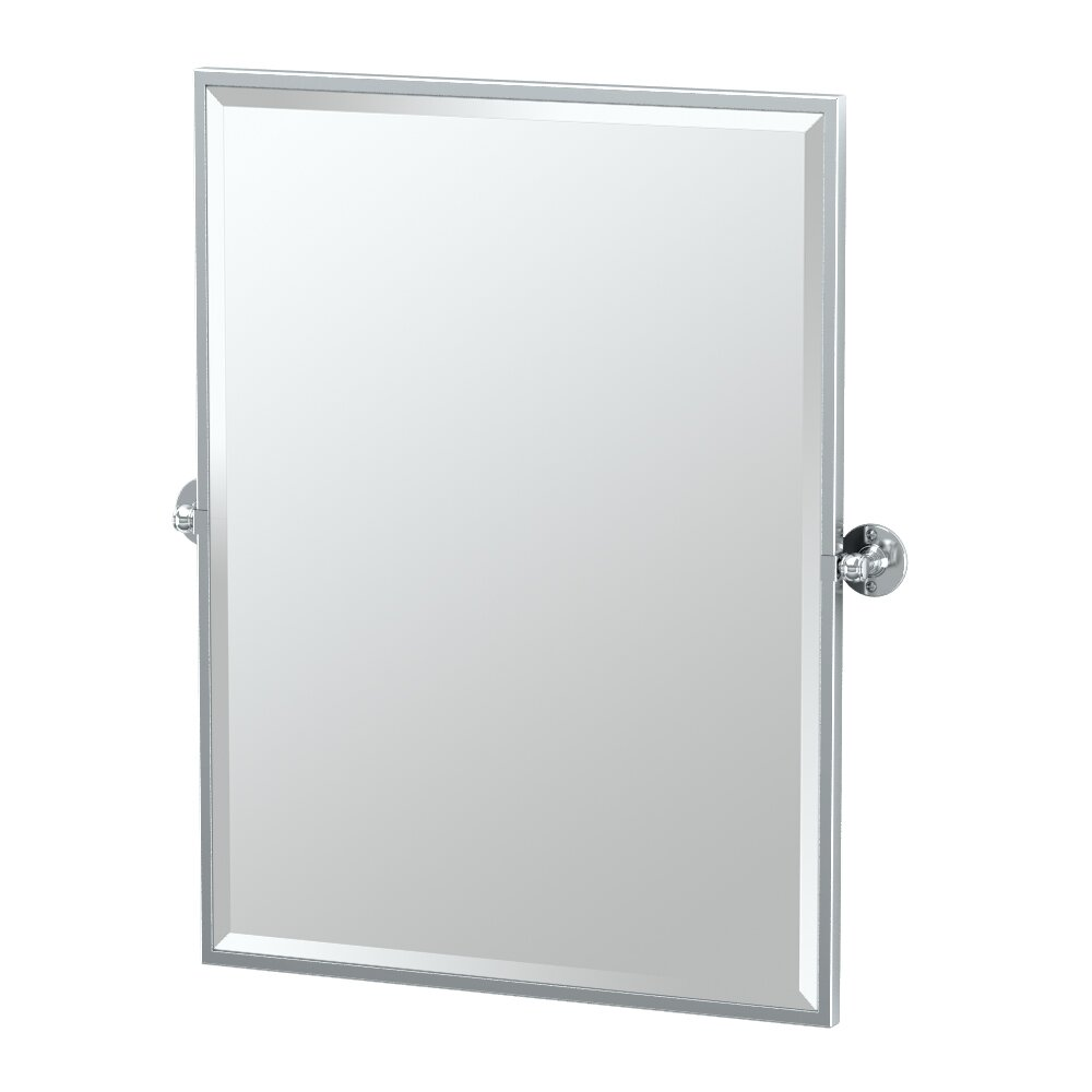Gatco caf framed rectangle mirror reviews wayfair for Rectangle mirror