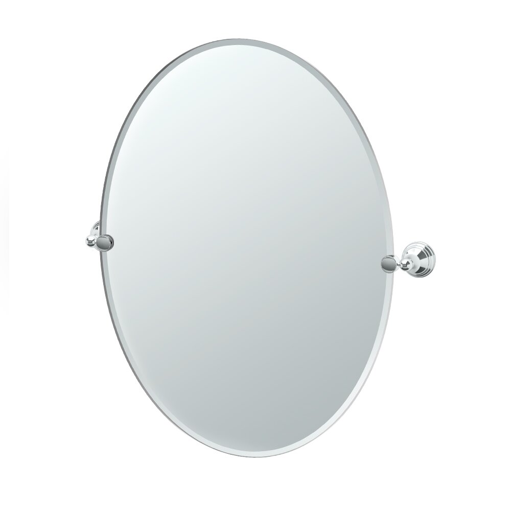 Gatco charlotte oval wall mirror reviews wayfair for Oval wall mirror