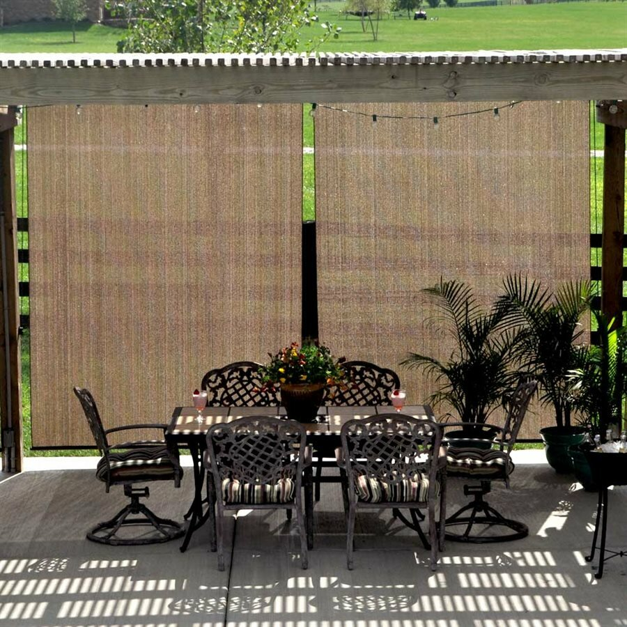Coolaroo uv block outdoor single curtain panel reviews - Coolaroo exterior retractable window shades ...