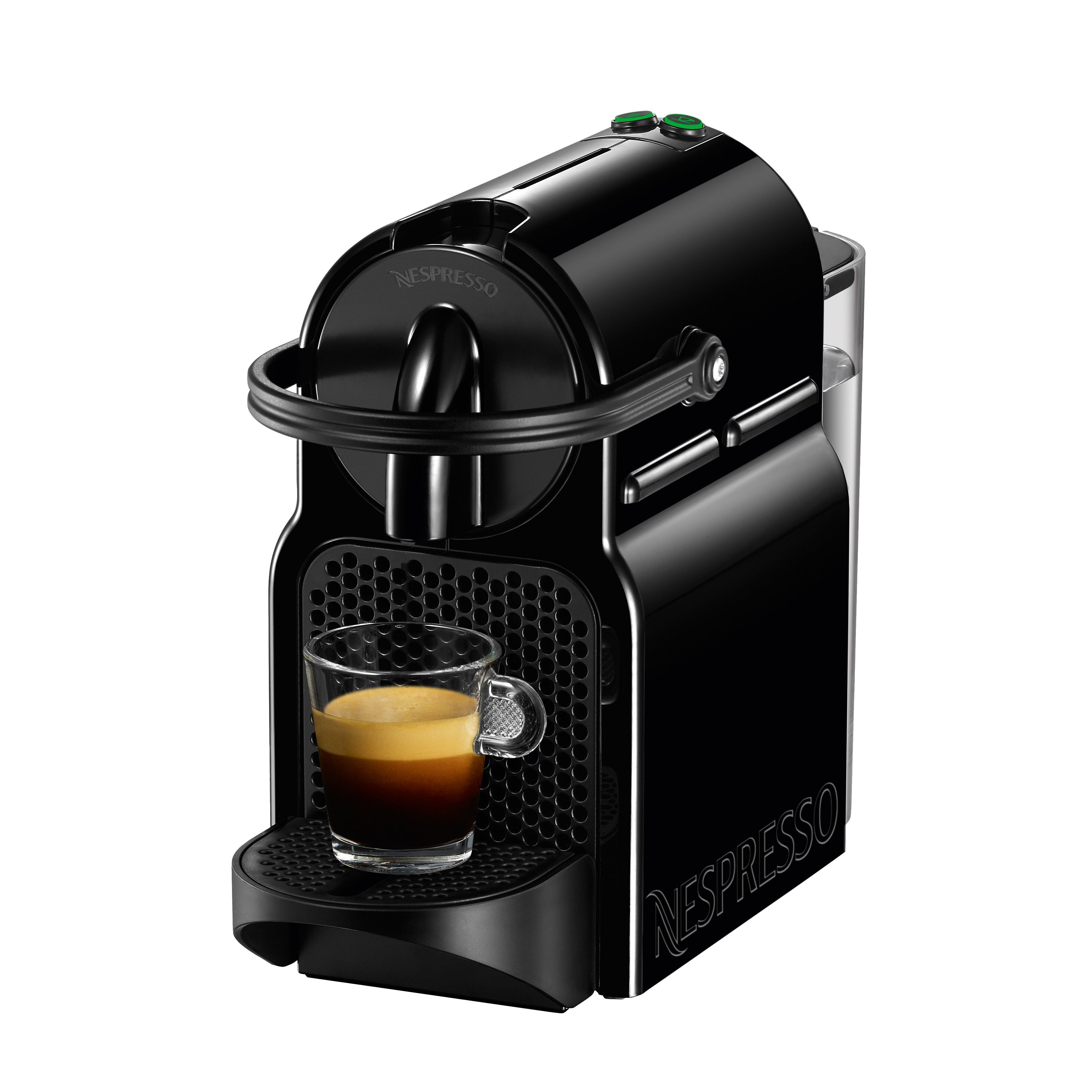 Coffee Maker With Espresso Reviews : Nespresso Inissia Espresso Maker with Aeroccino Milk Frother & Reviews Wayfair