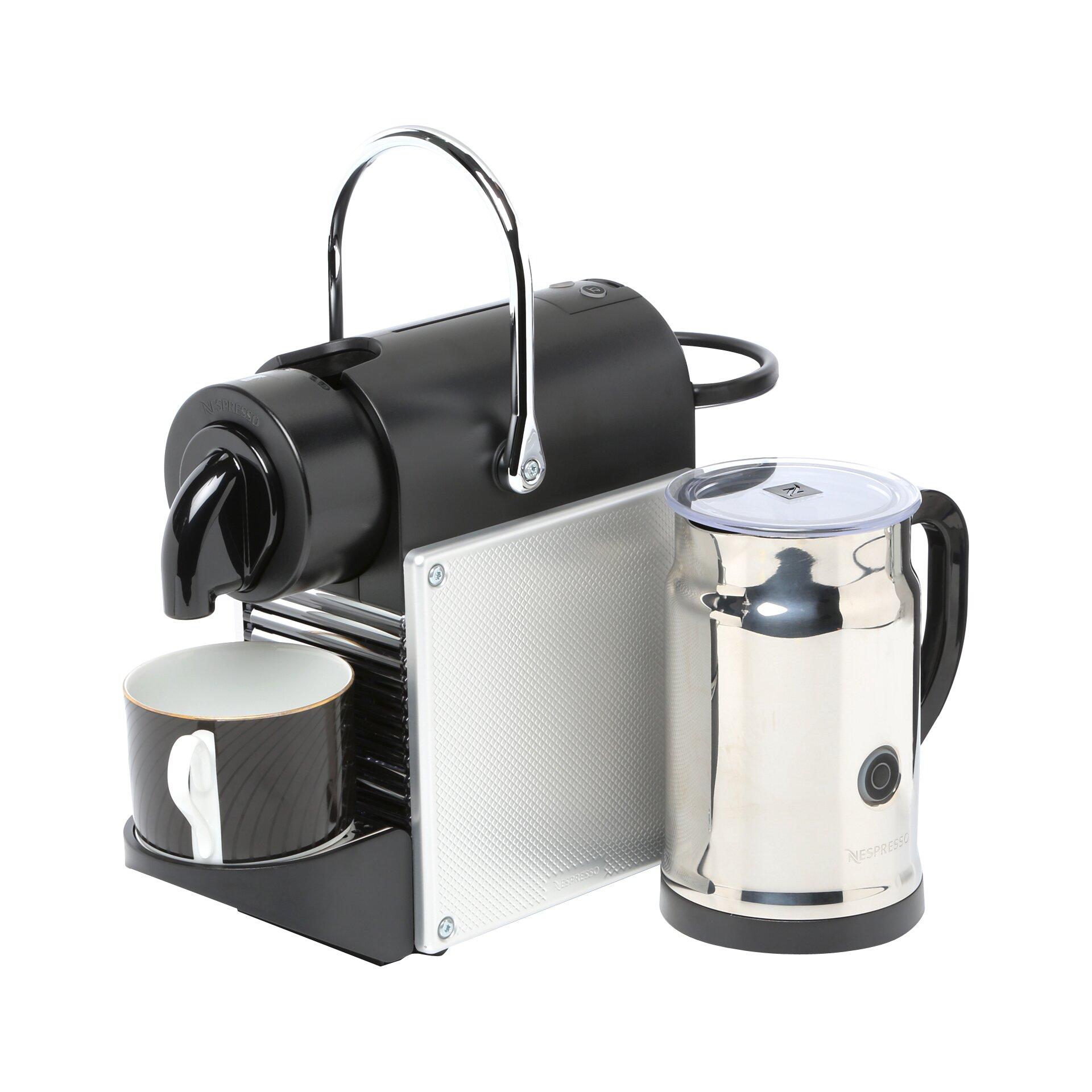 nespresso machine with milk frother