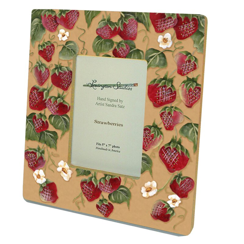Home And Garden Picture Frames : Lexington studios home and garden strawberries decorative