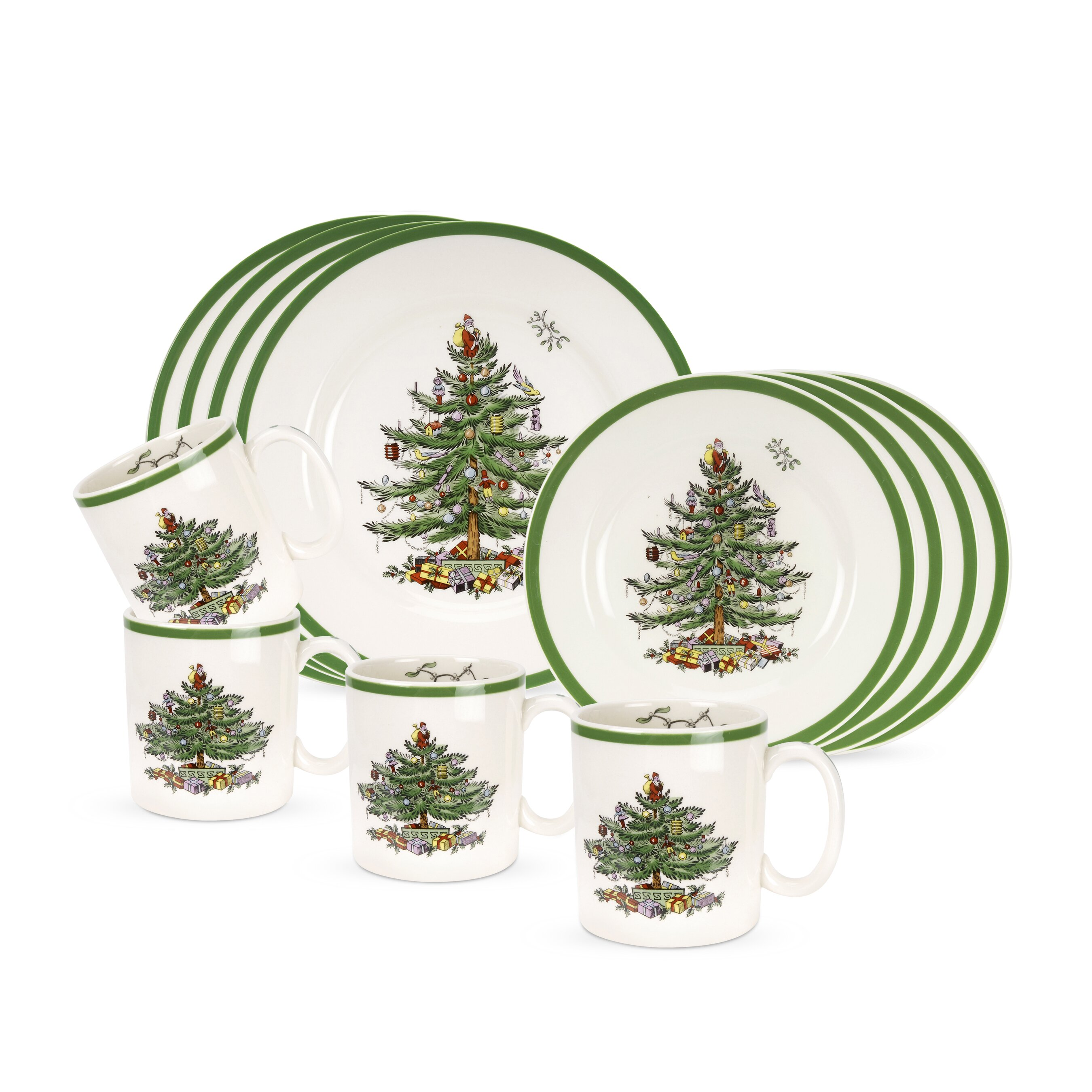 Spode Christmas Tree 12 Piece Dinnerware Set & Reviews | Wayfair