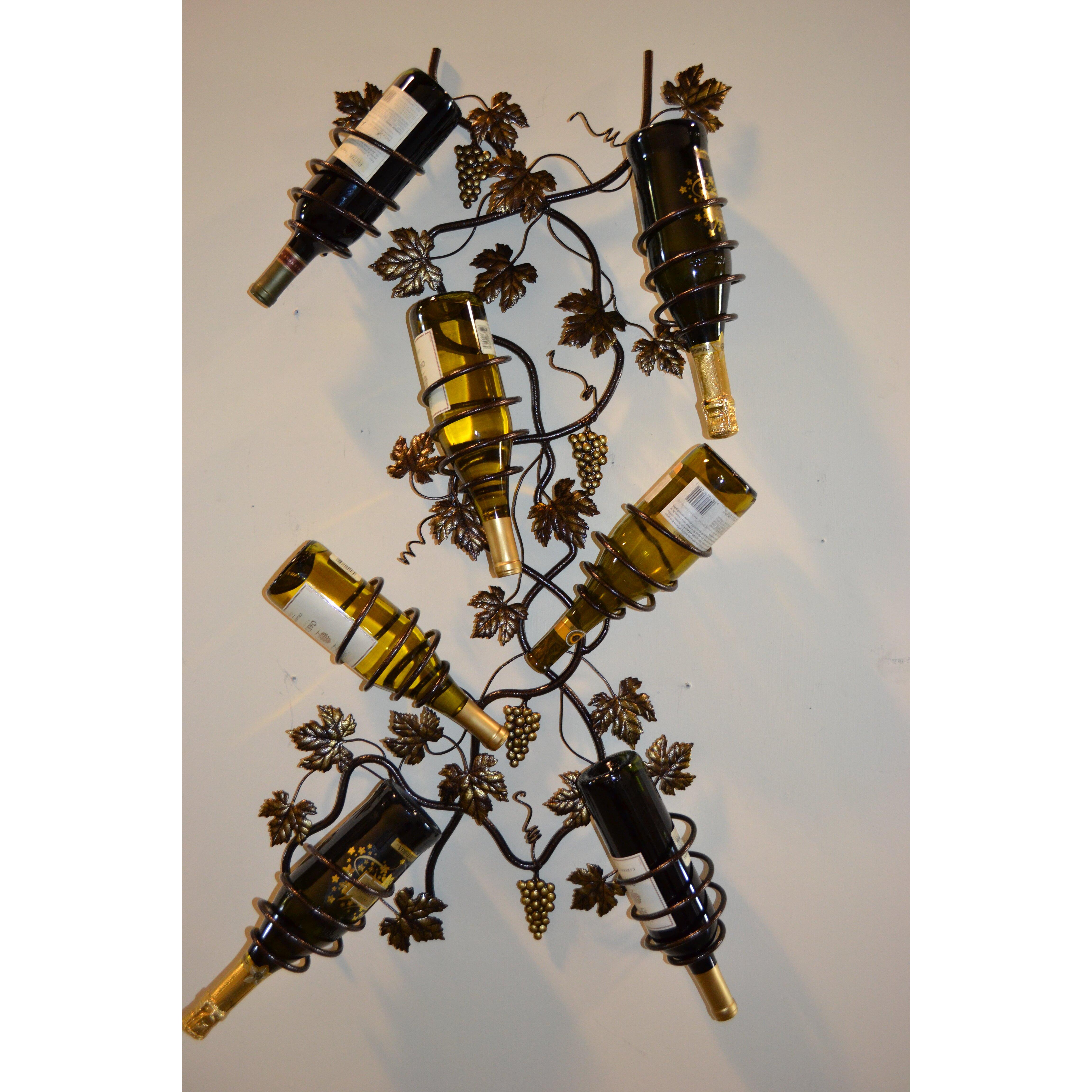 J J Wire 7 Bottle Wall Mounted Wine Rack Reviews Wayfair