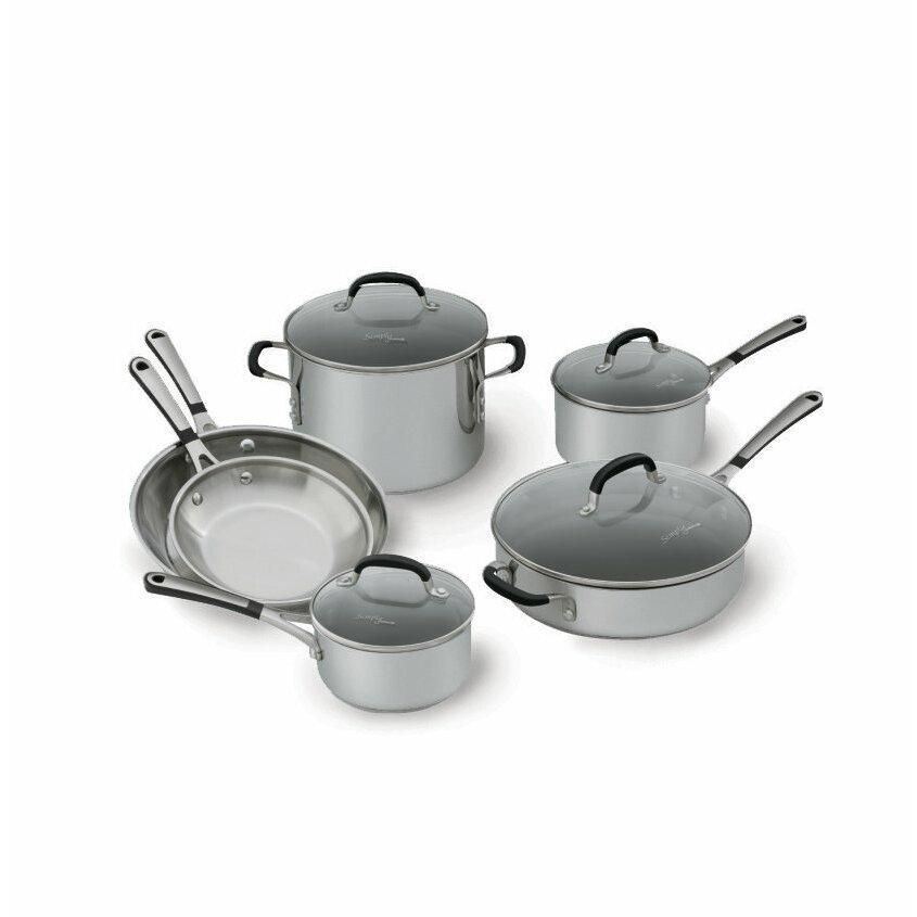 Calphalon Simply Stainless Steel 10 Piece Cookware Set