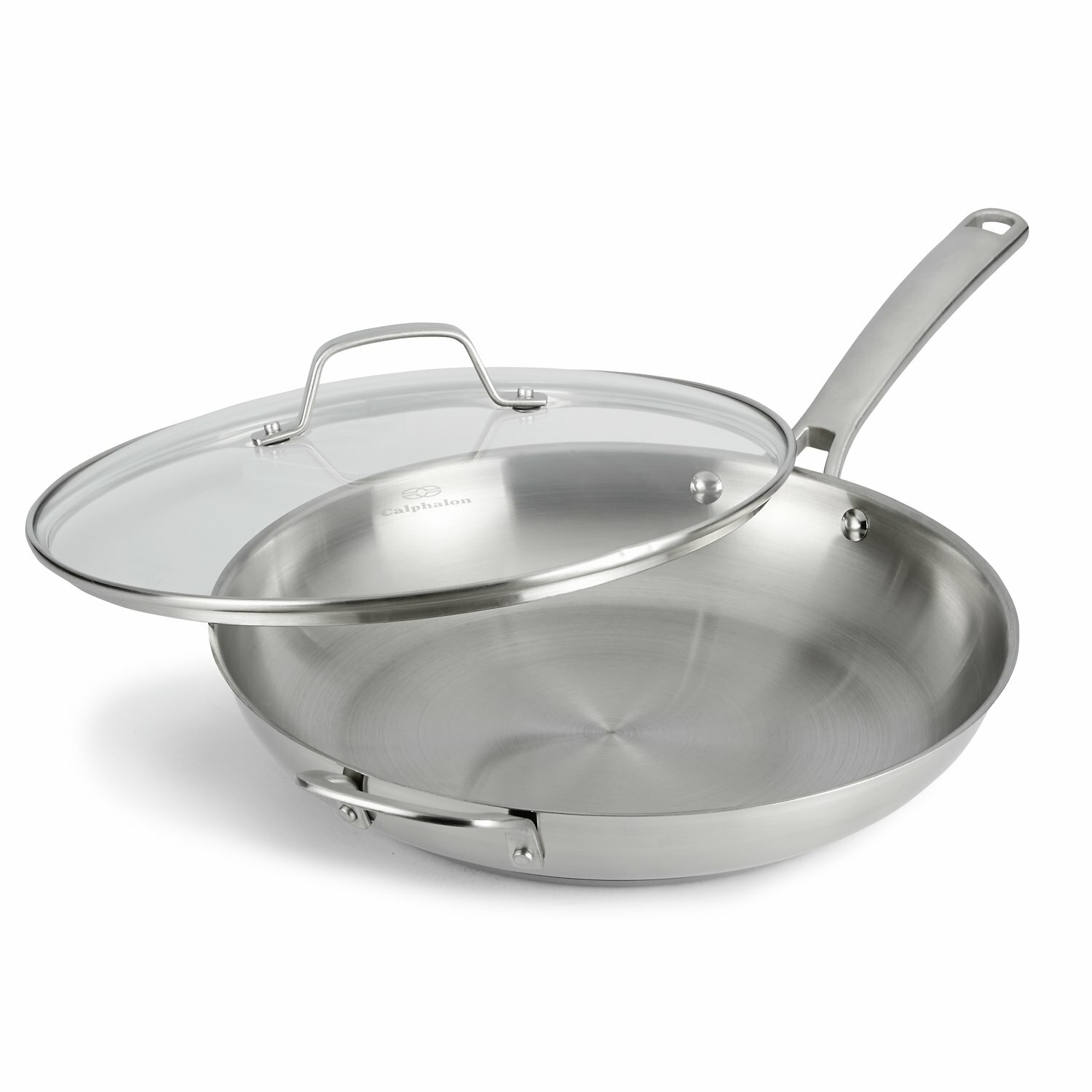 "Frying Pan: Calphalon Stainless Steel 12"" Frying Pan With Lid"