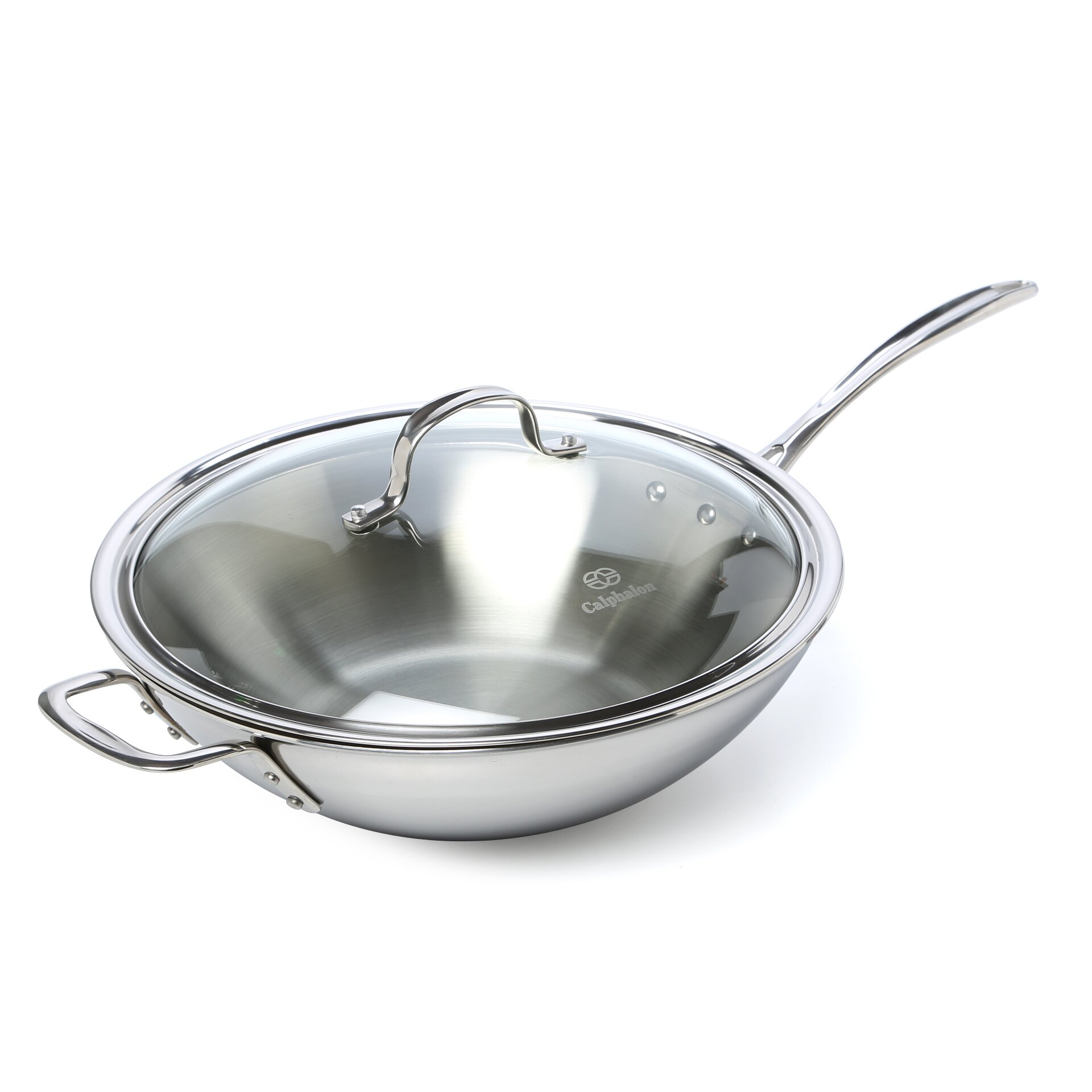 Calphalon Tri Ply Stainless Steel 12 Quot Frying Pan With Lid