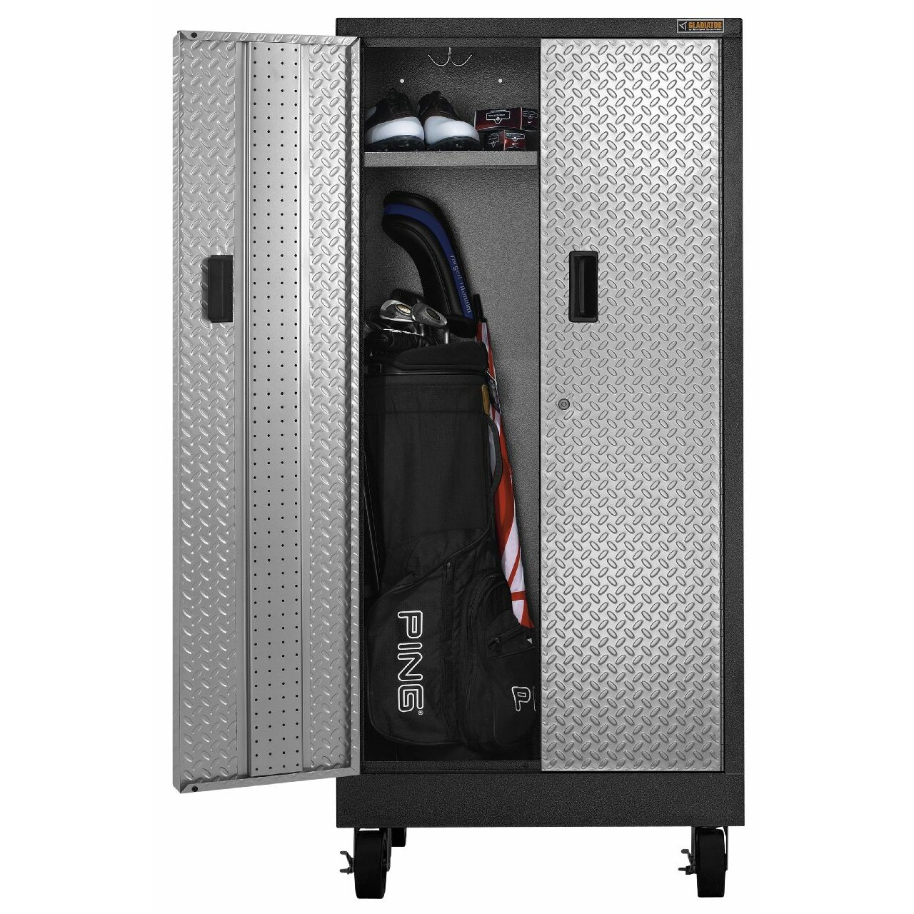 Gladiator premier series pre assembled 66 h x 30 w x 18 for Premier garage cabinets