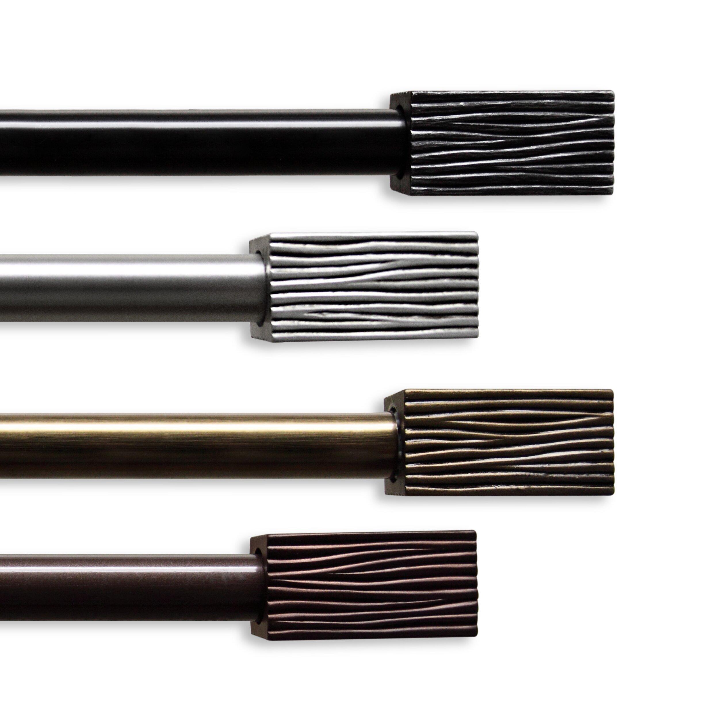 Rod Desyne Alder Single Curtain Rod and Hardware Set & Reviews ...