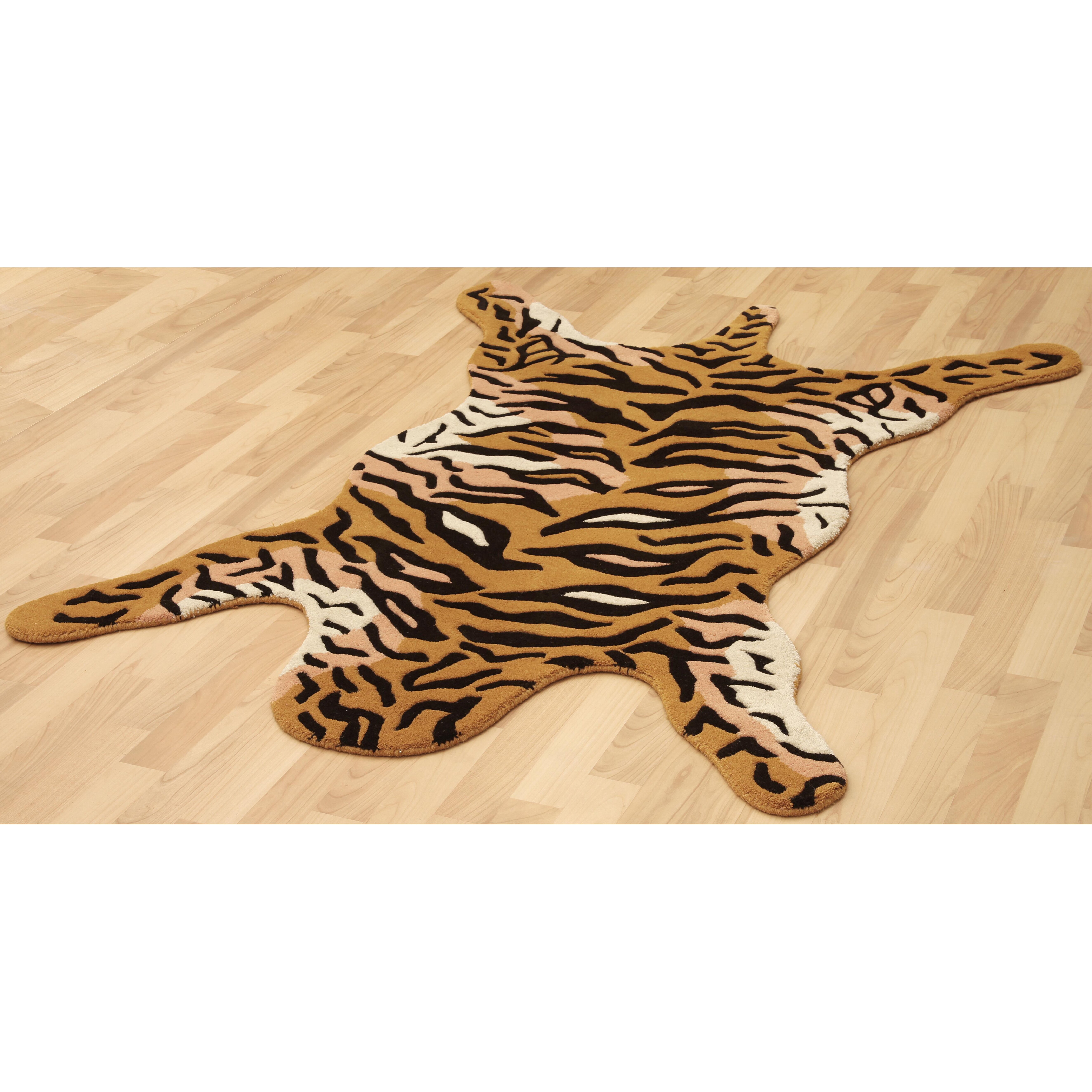 St. Croix Safari Orange Tiger Area Rug & Reviews