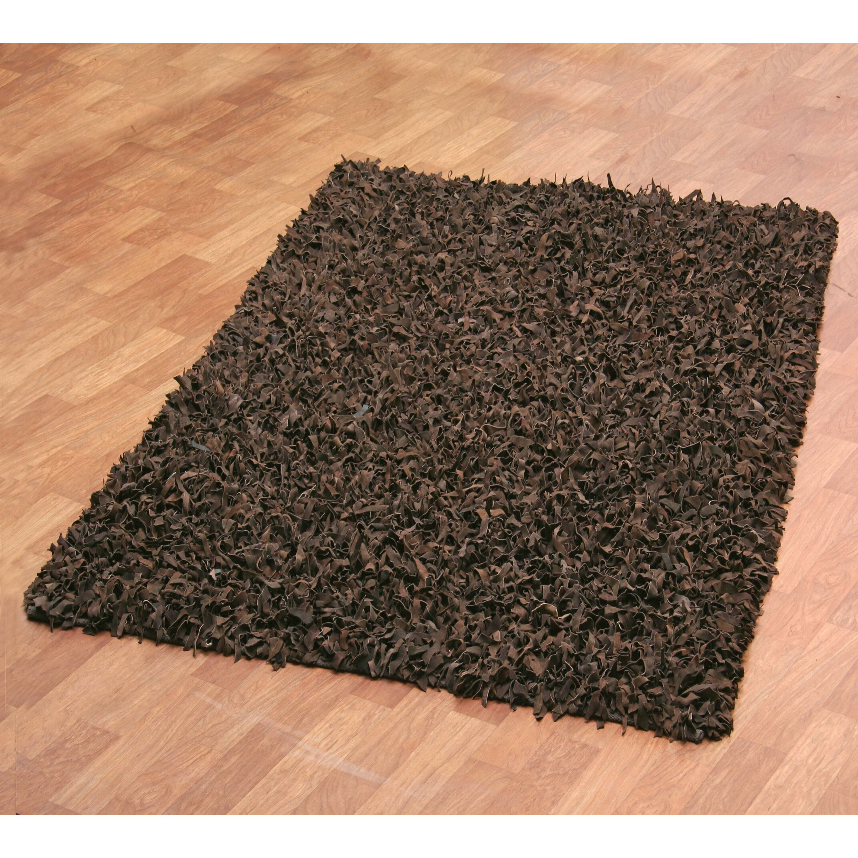 St Croix Pelle Leather Dark Brown Area Rug Amp Reviews